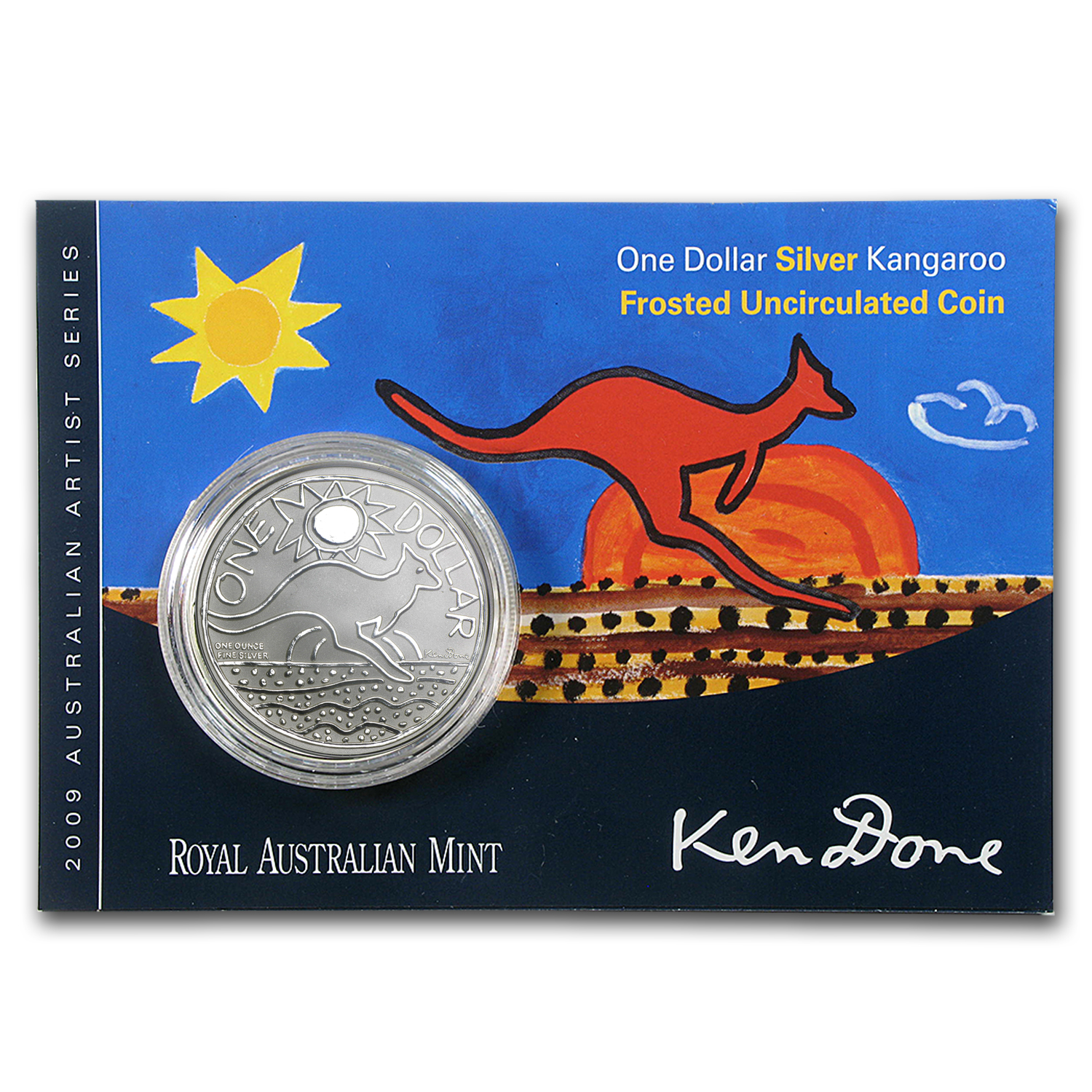 2009 Australia 1 oz Silver Kangaroo (In Display Card)