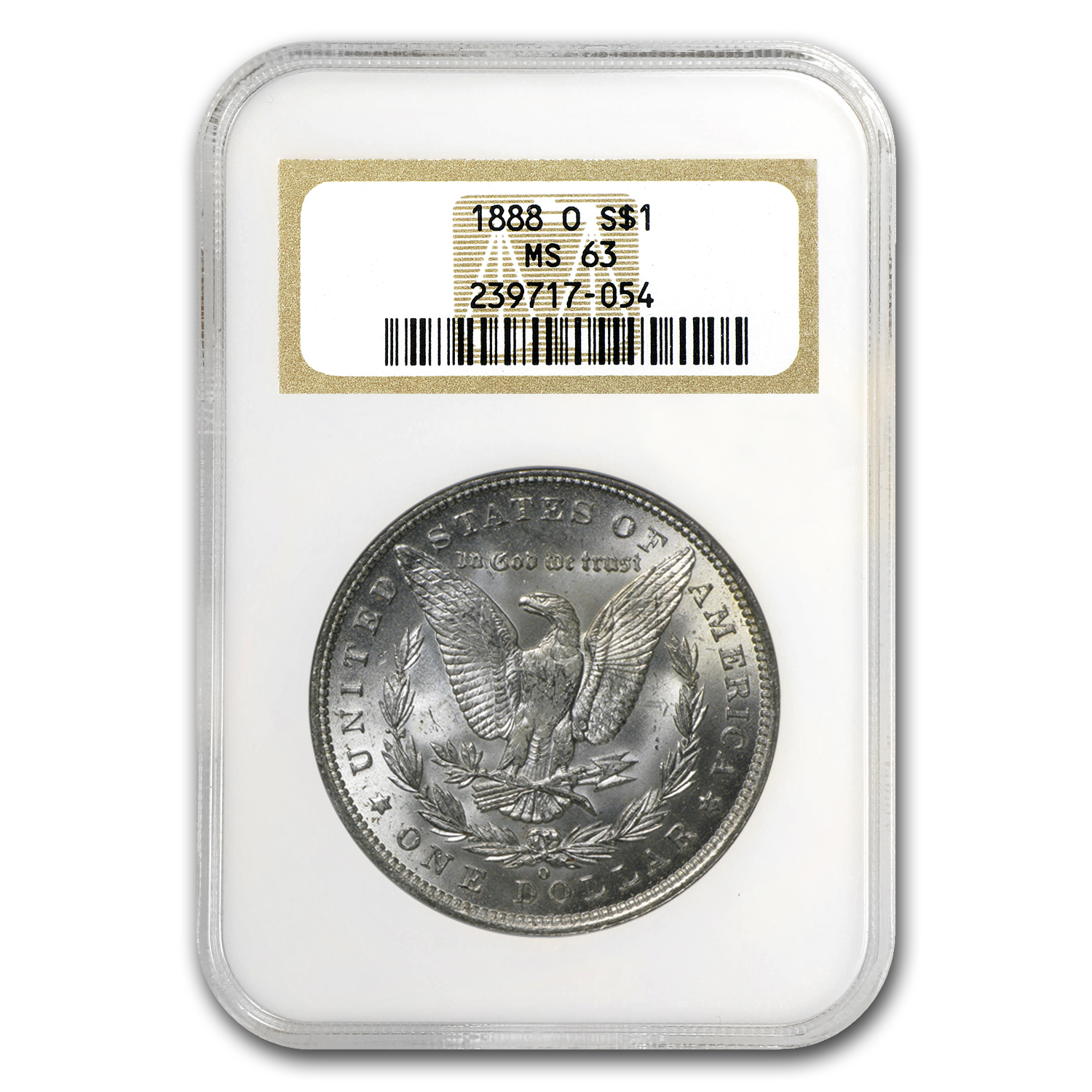 1888-O Morgan Dollar MS-63 NGC