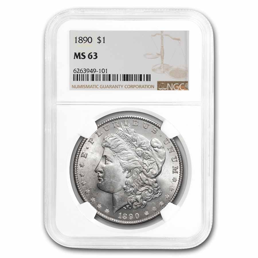 1890 Morgan Dollar MS-63 NGC