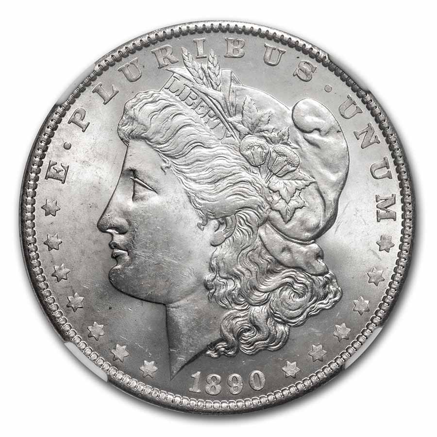 1890 Morgan Dollar - MS-63 NGC