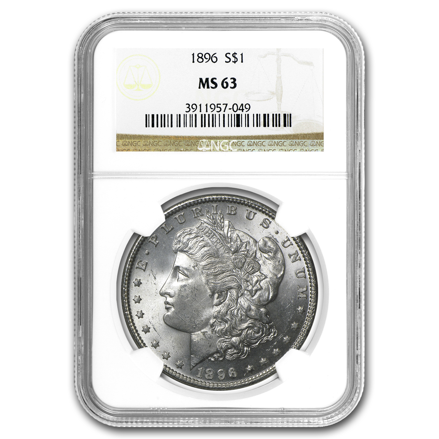 1896 Morgan Dollar MS-63 NGC