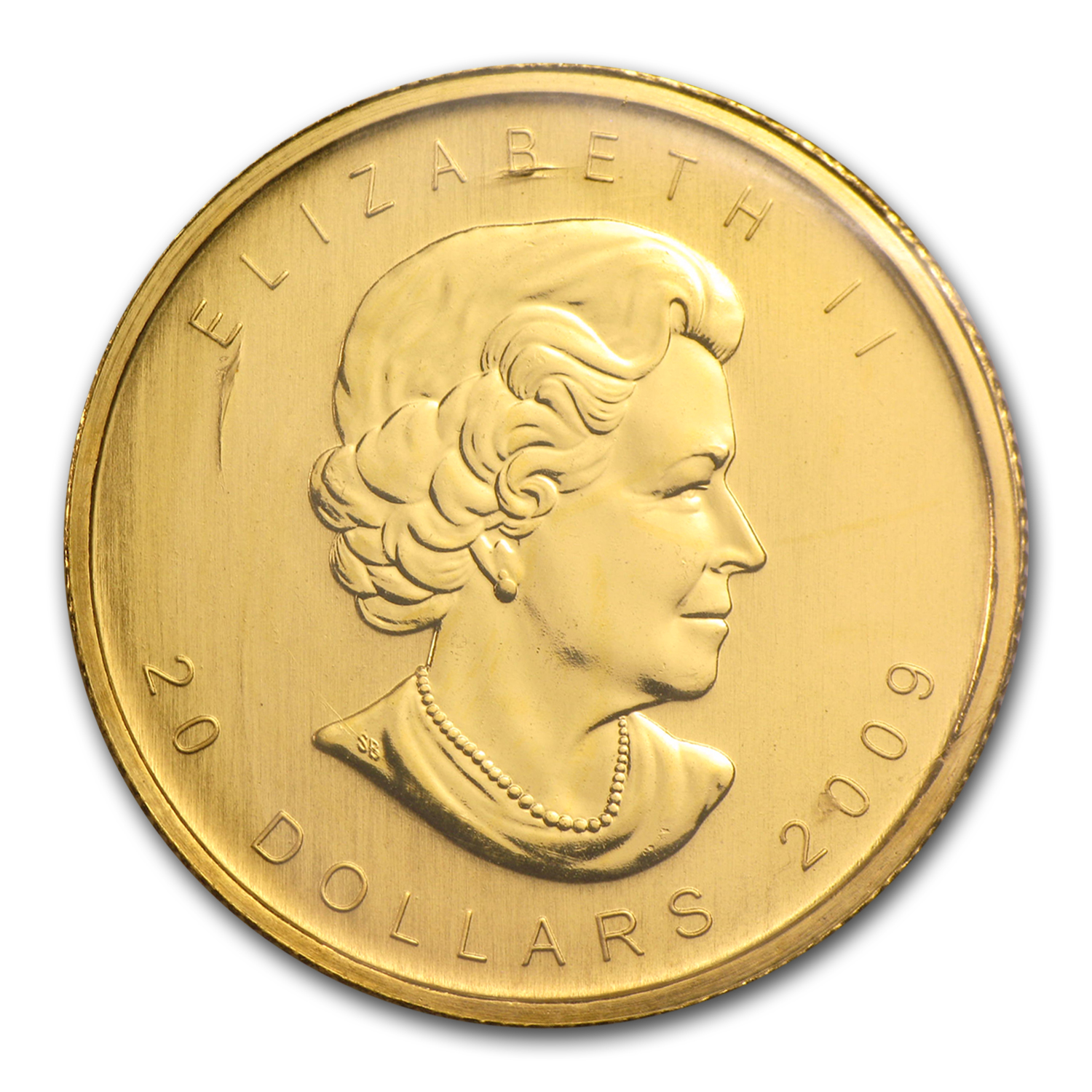 2009 Canada 1/2 oz Gold Maple Leaf BU