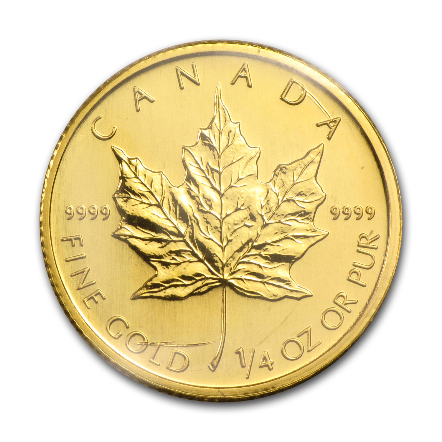 2009 Canada 1/4 oz Gold Maple Leaf BU