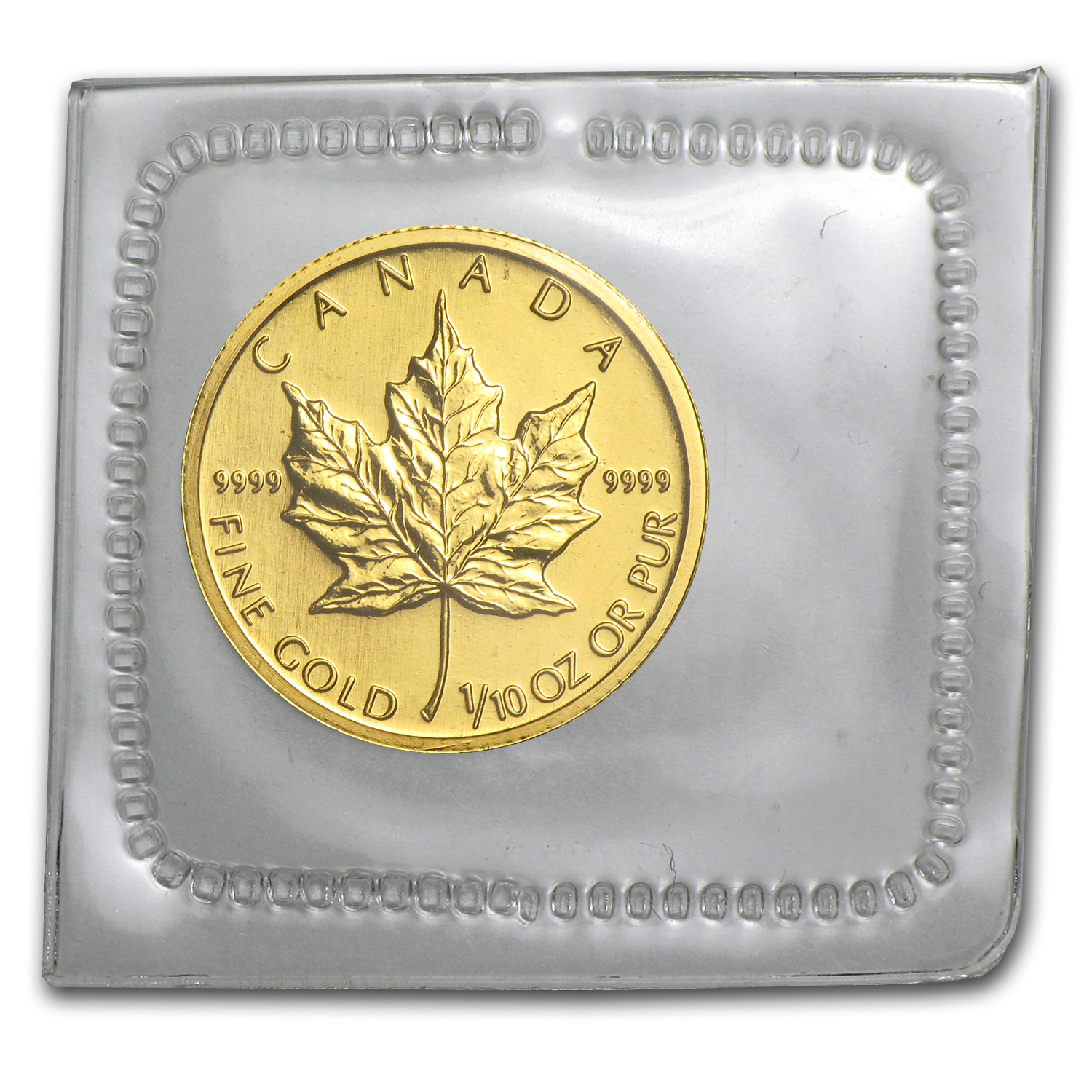 2009 1/10 oz Gold Canadian Maple Leaf