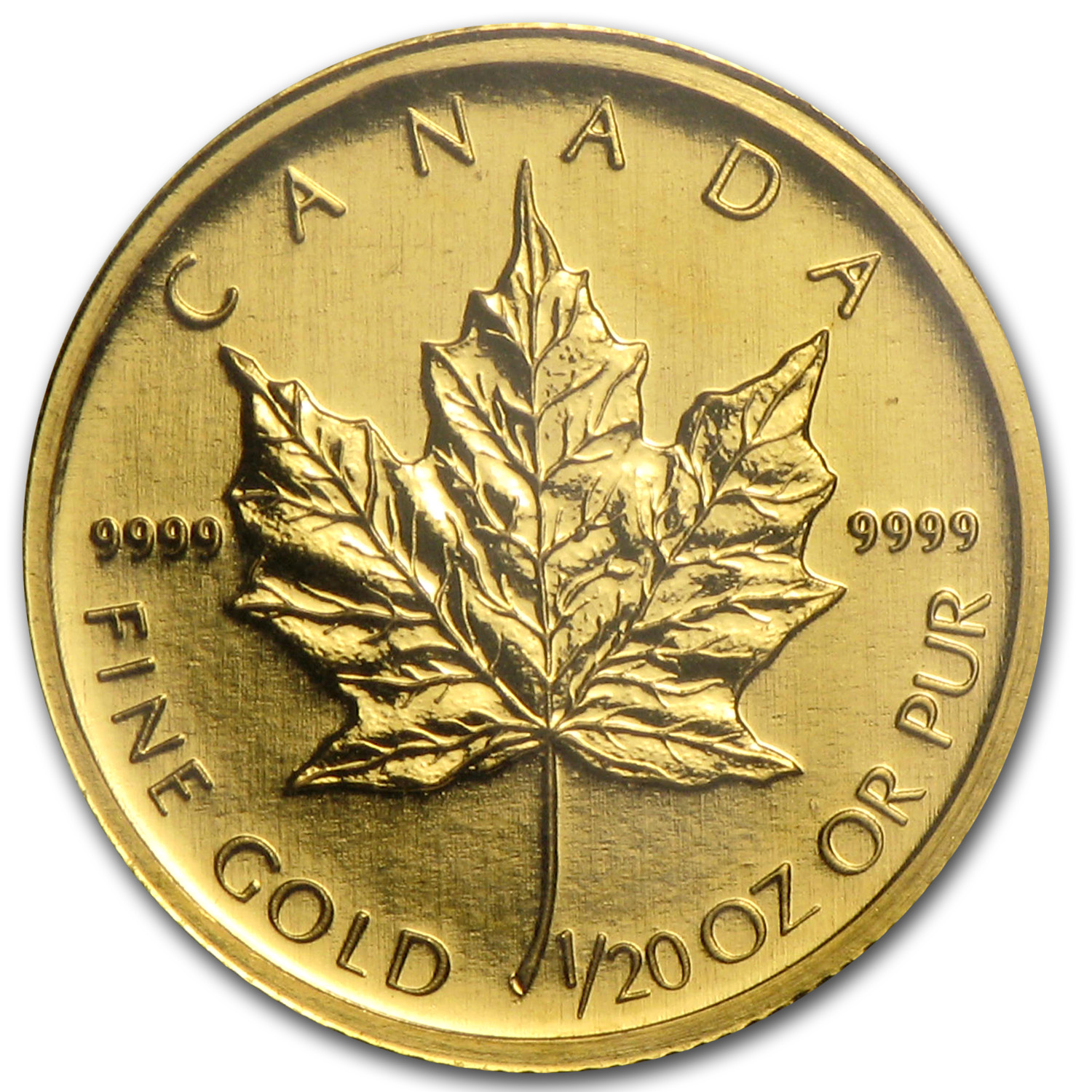 2009 Canada 1/20 oz Gold Maple Leaf BU