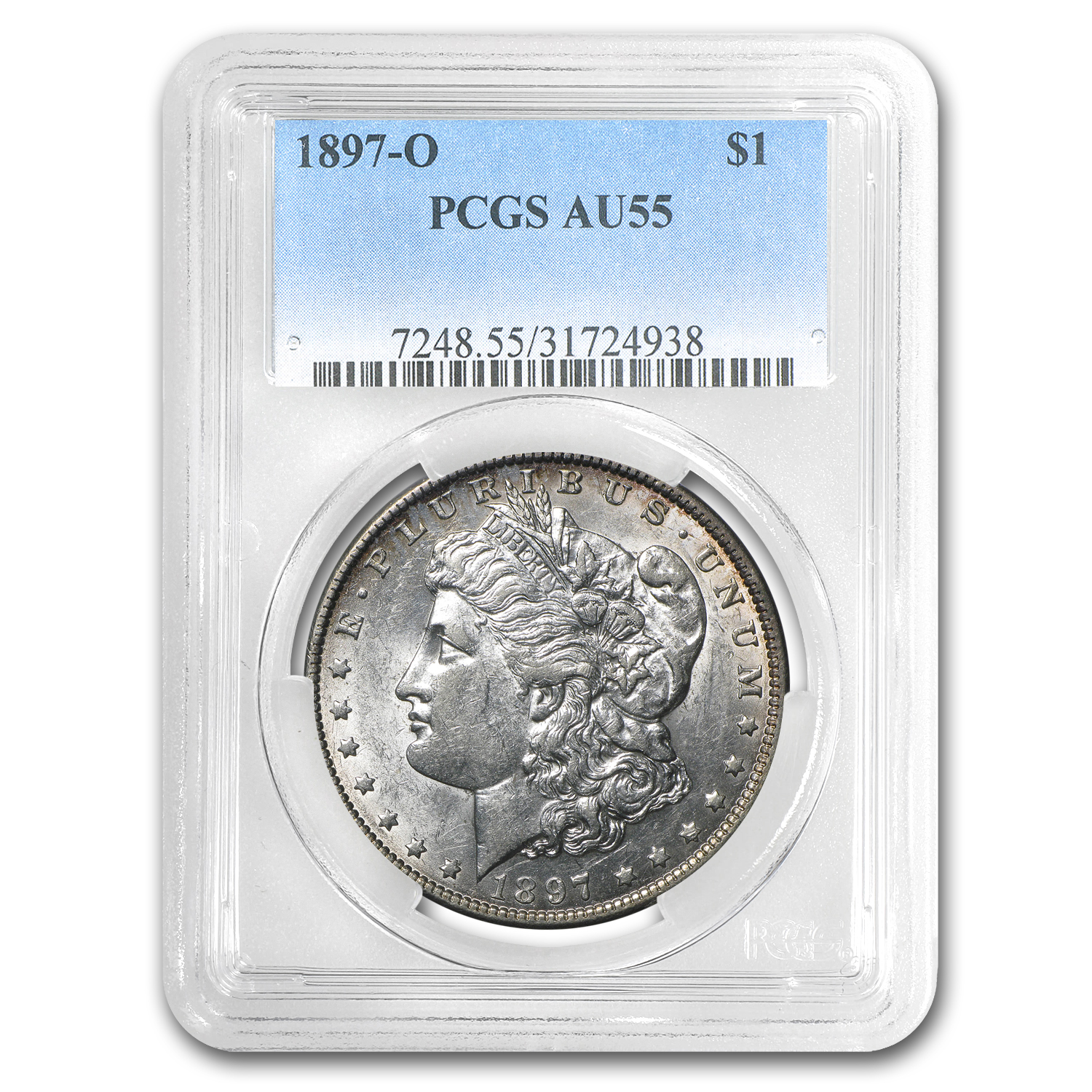 1897-O Morgan Dollar AU-55 PCGS