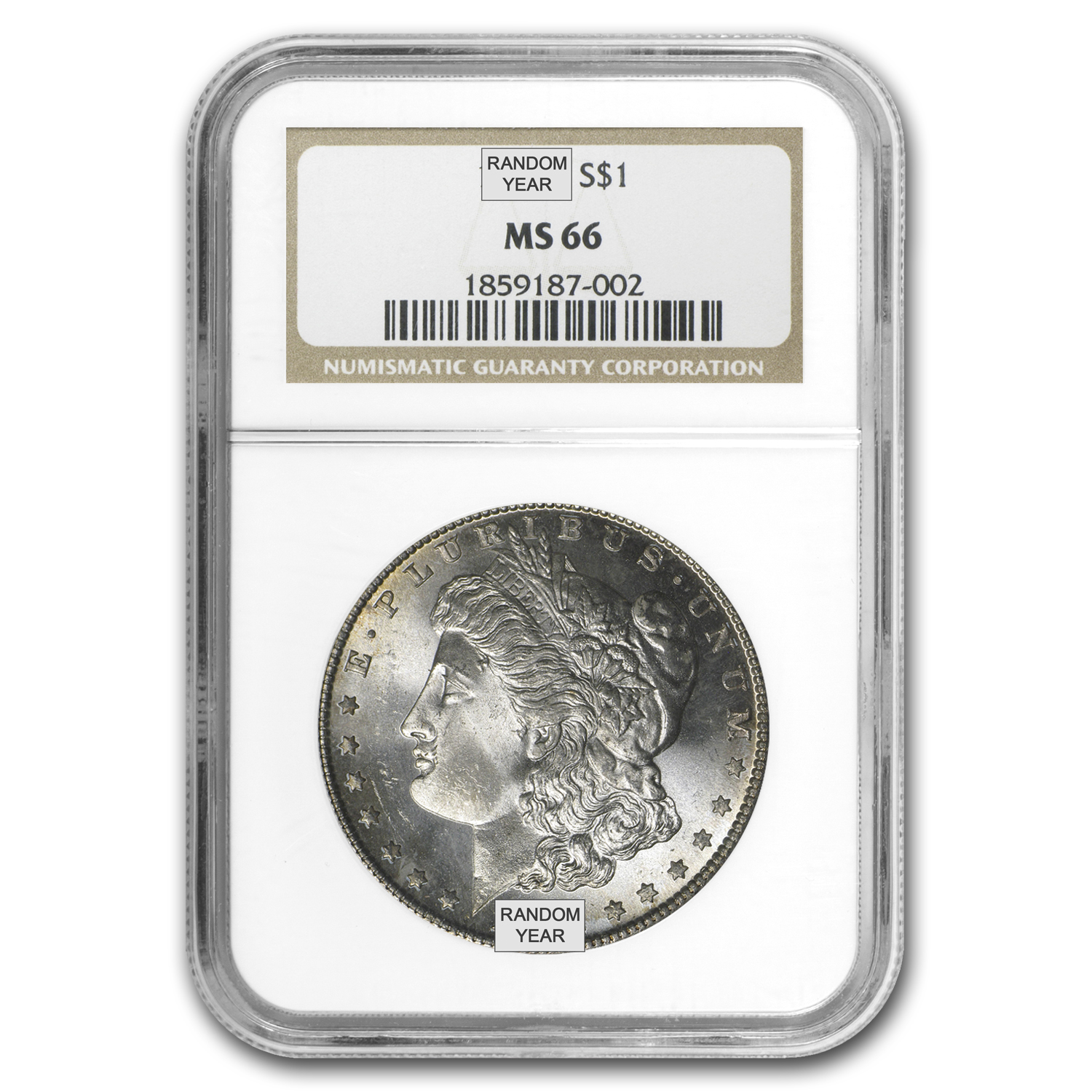 1878-1904 Morgan Dollars - MS-66 NGC