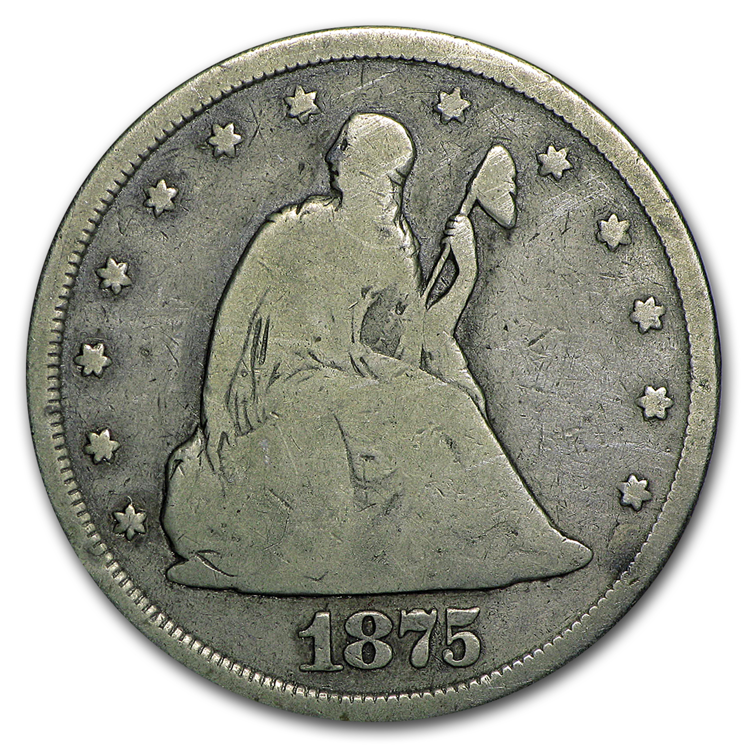 1875-CC Twenty Cent Piece Good