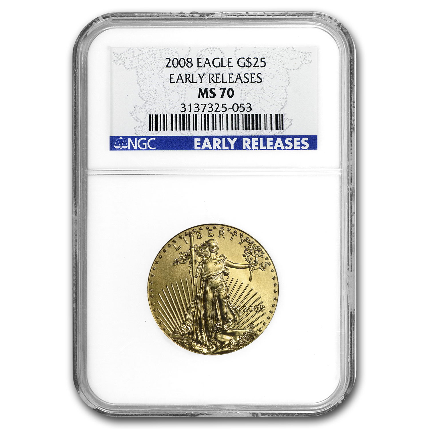 2008 1/2 oz Gold American Eagle MS-70 NGC (Early Releases)