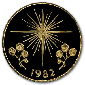 1982 Panama Proof Gold 50 Balboas Star of Bethlehem