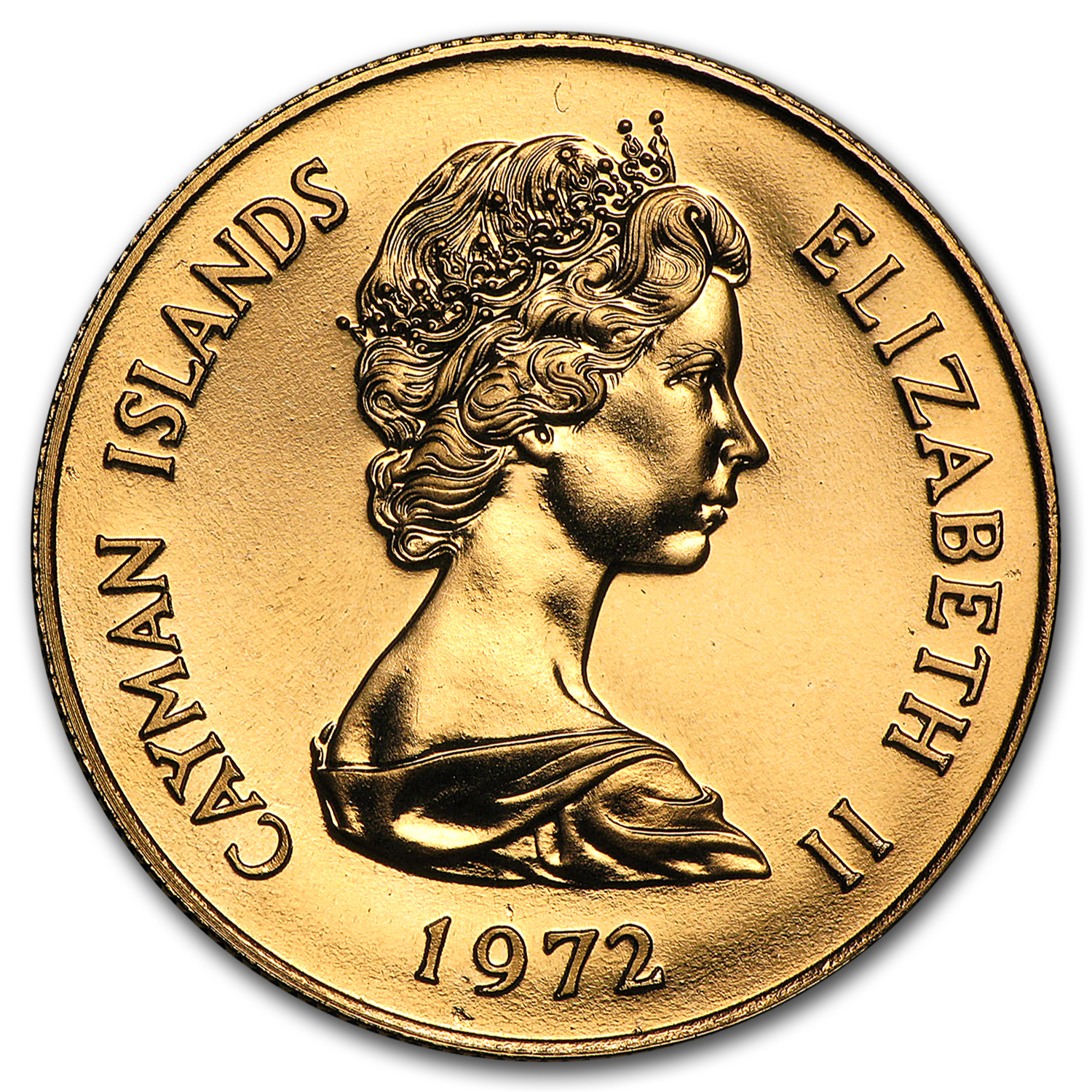 Cayman Islands 1972 25 Dollars Gold Proof