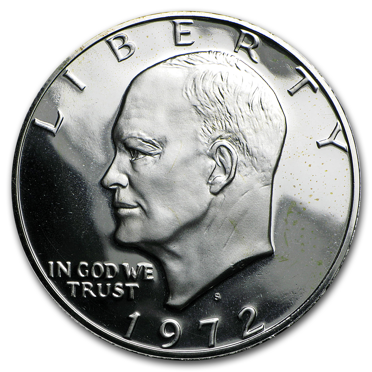 1972-S 40% Silver Eisenhower Dollars 20-Coin Roll Gem Proof