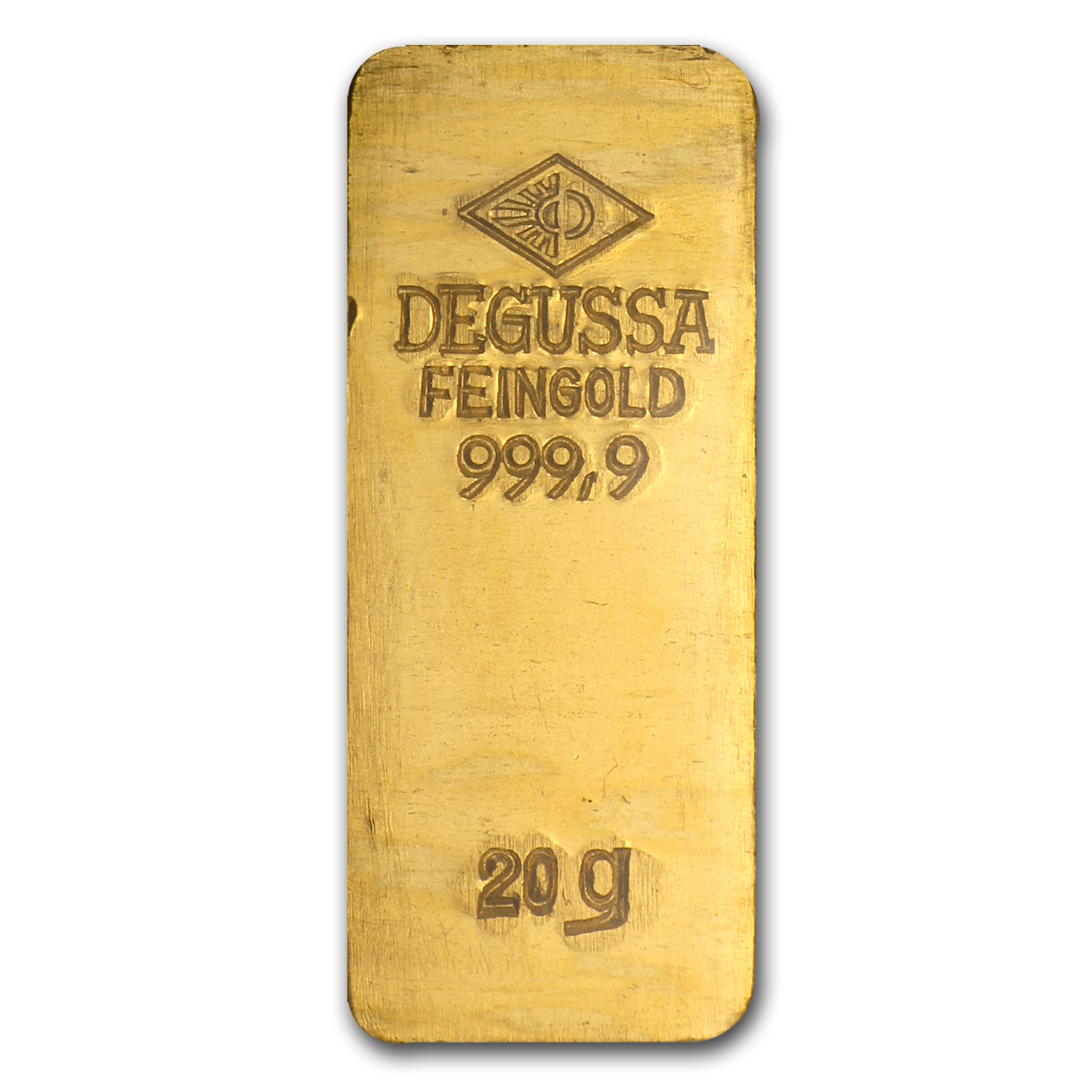 20 gram Gold Bar - Degussa (Stamped)