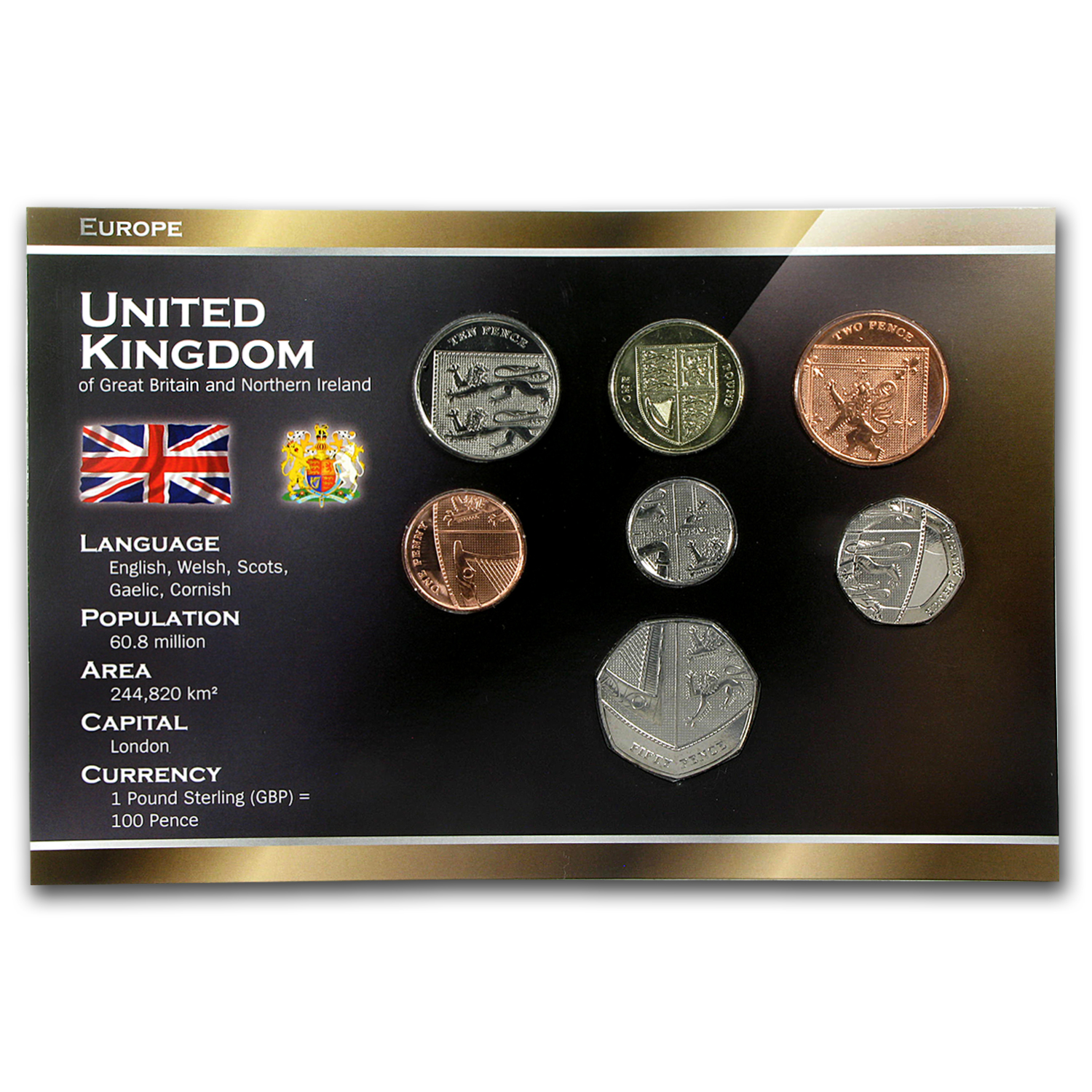 2008 Great Britain 1 Penny-1 Pound Set BU