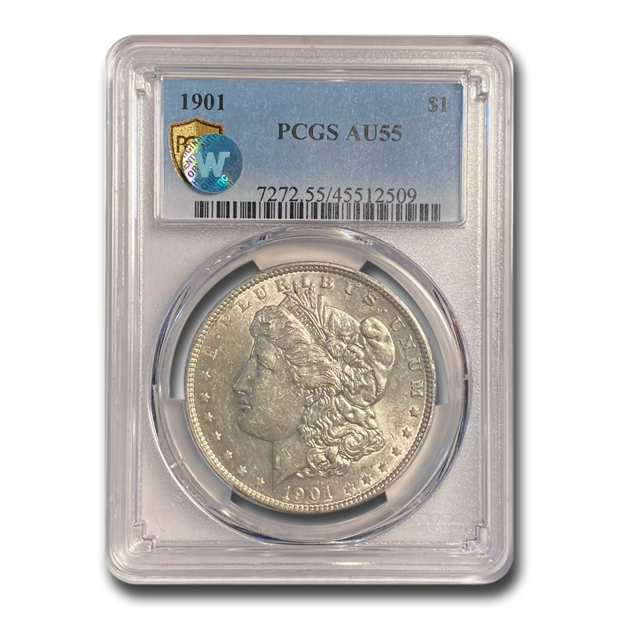 1901 Morgan Dollar Almost Uncirculated-55 PCGS