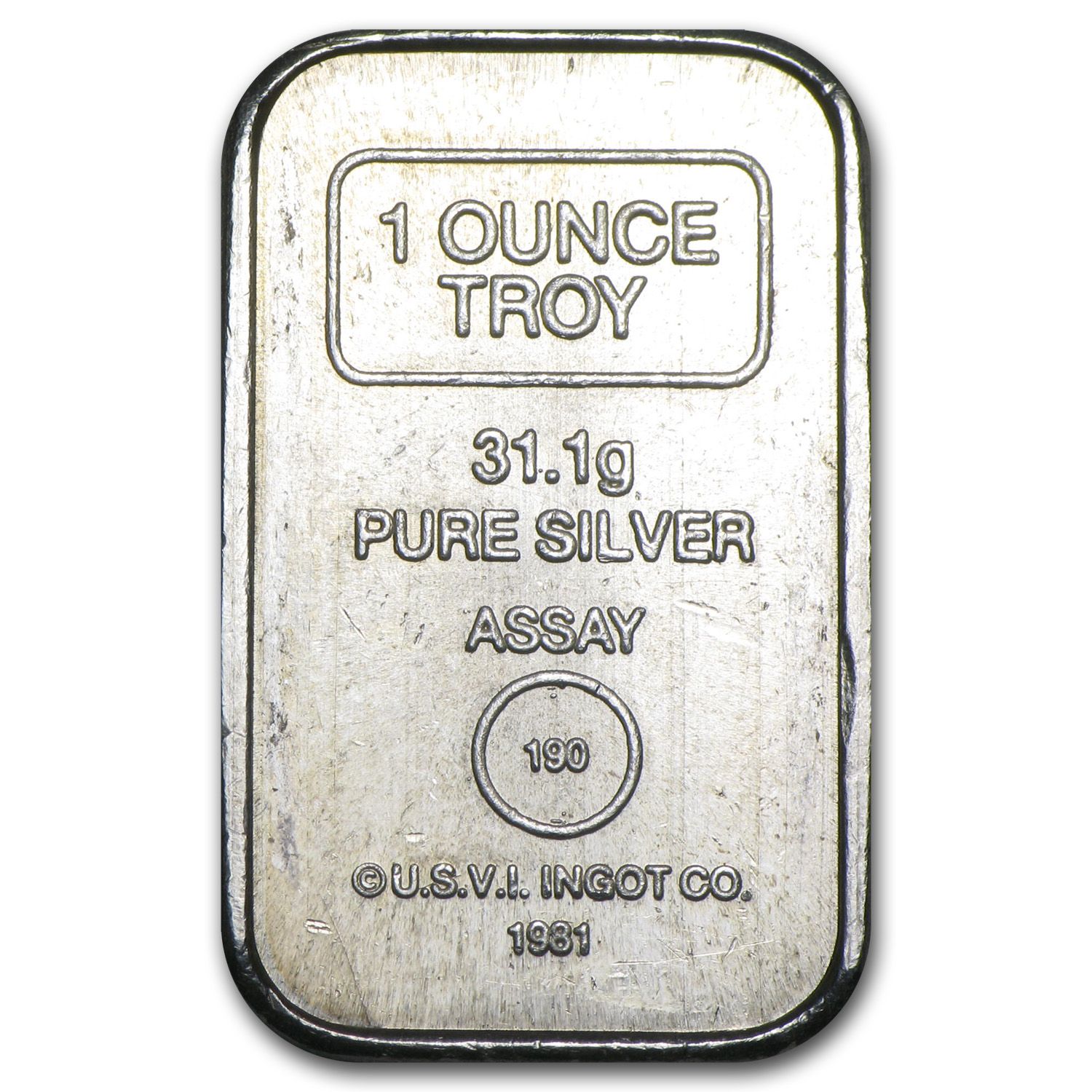 1 oz Silver Bar - A-Mark Brick