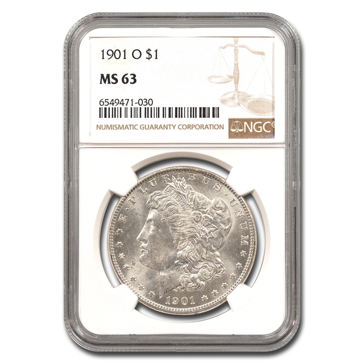 1901-O Morgan Dollar MS-63 NGC