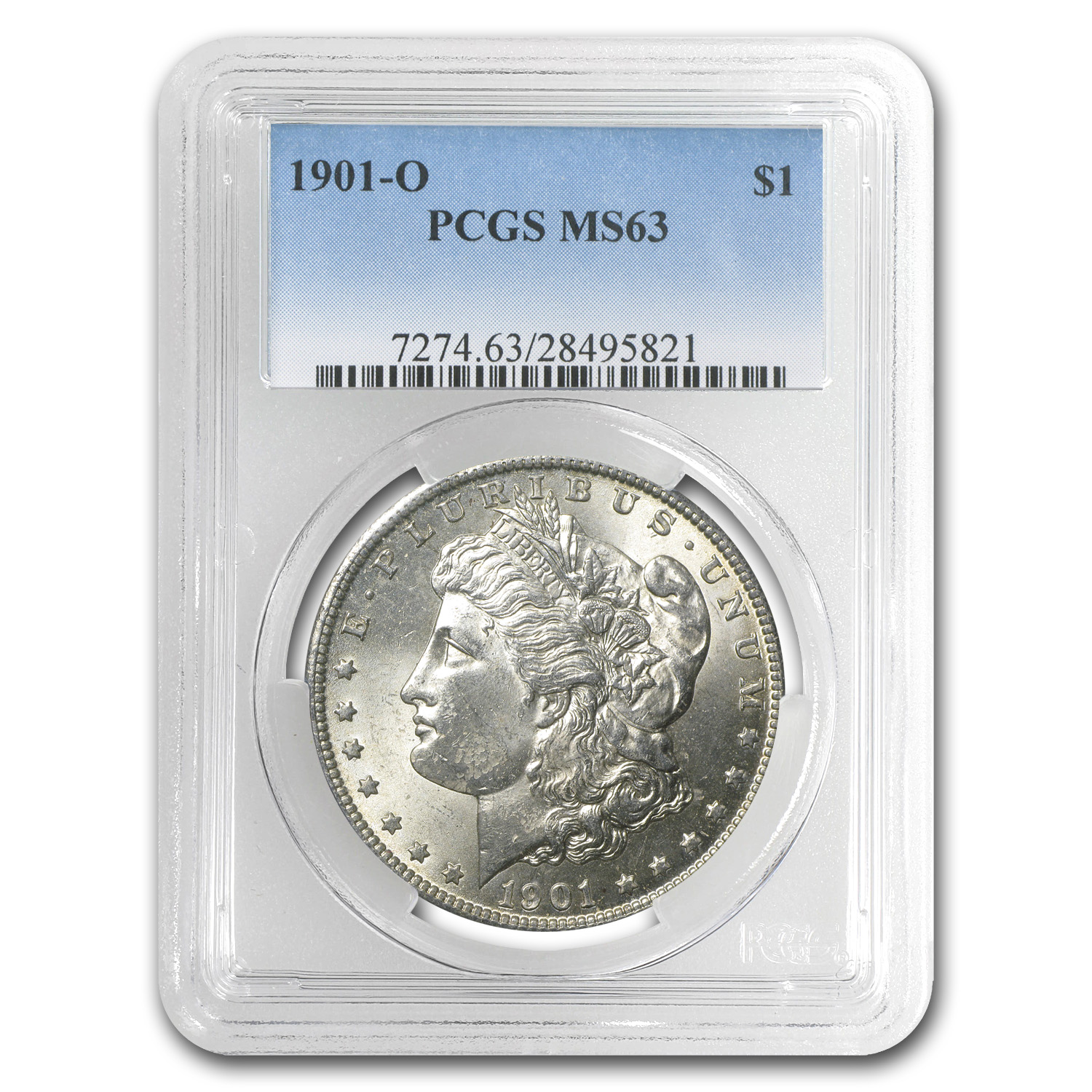 1901-O Morgan Dollar - MS-63 PCGS