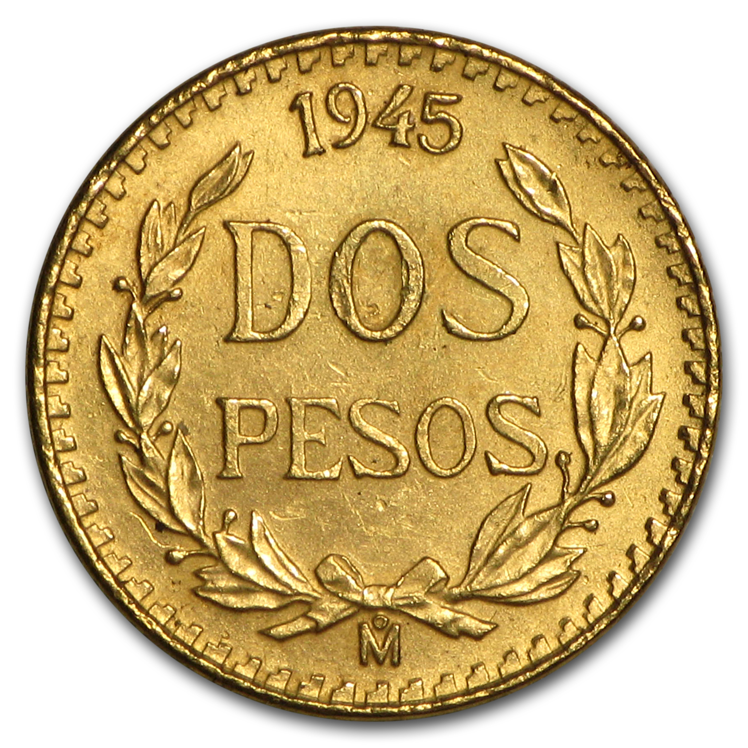 Mexico Gold 2 Pesos Cleaned Random Dates Gold 2 Pesos