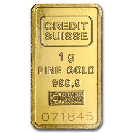 1 Gram Gold Bar Credit Suisse Statue Of Liberty Credit