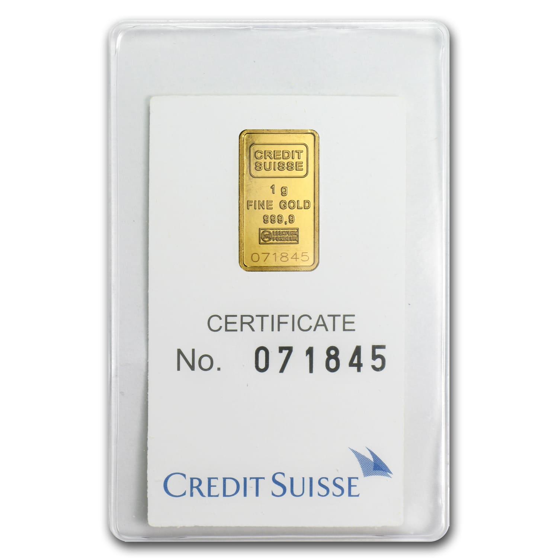 1 Gram Gold Bar Credit Suisse Statue Of Liberty Credit