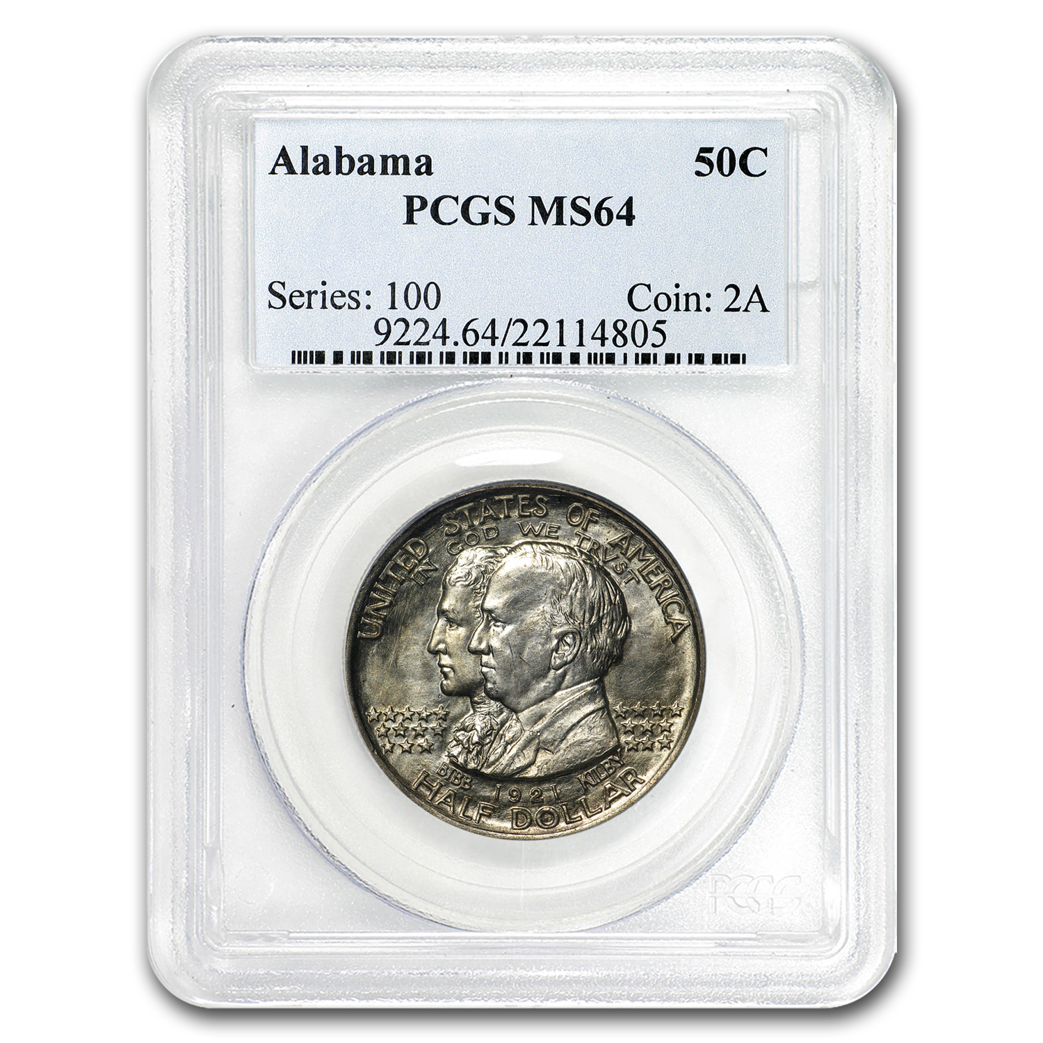 1921 Alabama Centennial Commemorative Half MS-64 PCGS