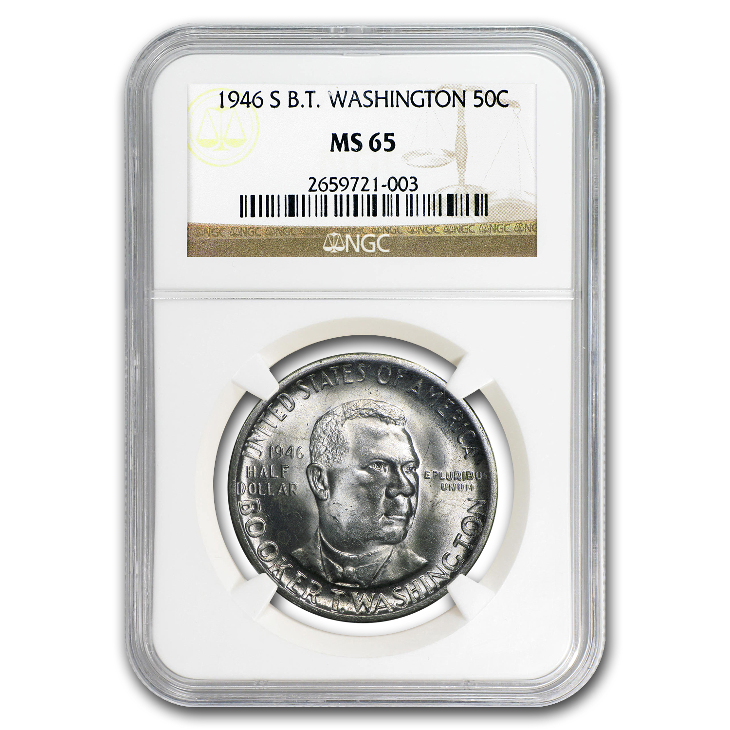 1946-S Booker T. Washington Half Dollar MS-65 NGC