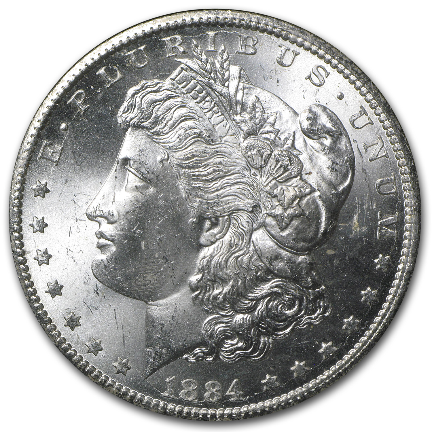 1884-CC Morgan Dollar MS-64 NGC - GSA Certified