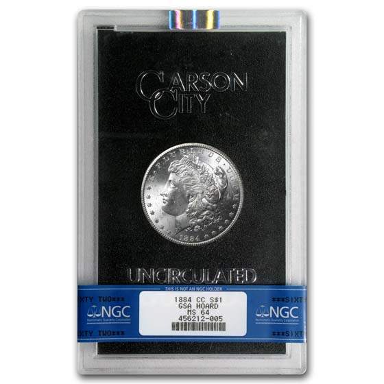 1884-CC Morgan Silver Dollar MS-64 NGC (GSA)