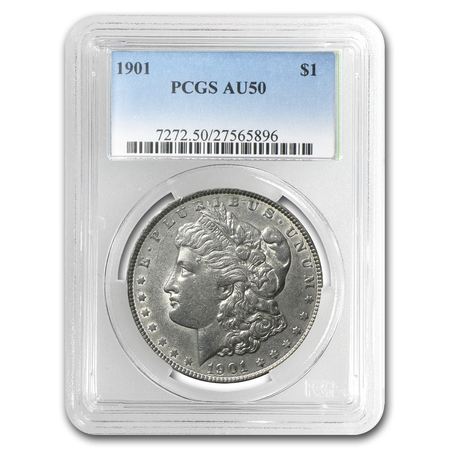 1901 Morgan Dollar AU-50 PCGS