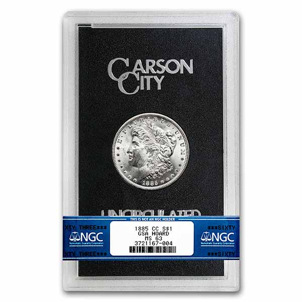 1885-CC Morgan Dollar MS-63 NGC - GSA Certified
