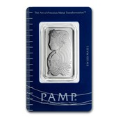 1 oz Platinum Bar - PAMP Suisse (In Assay)