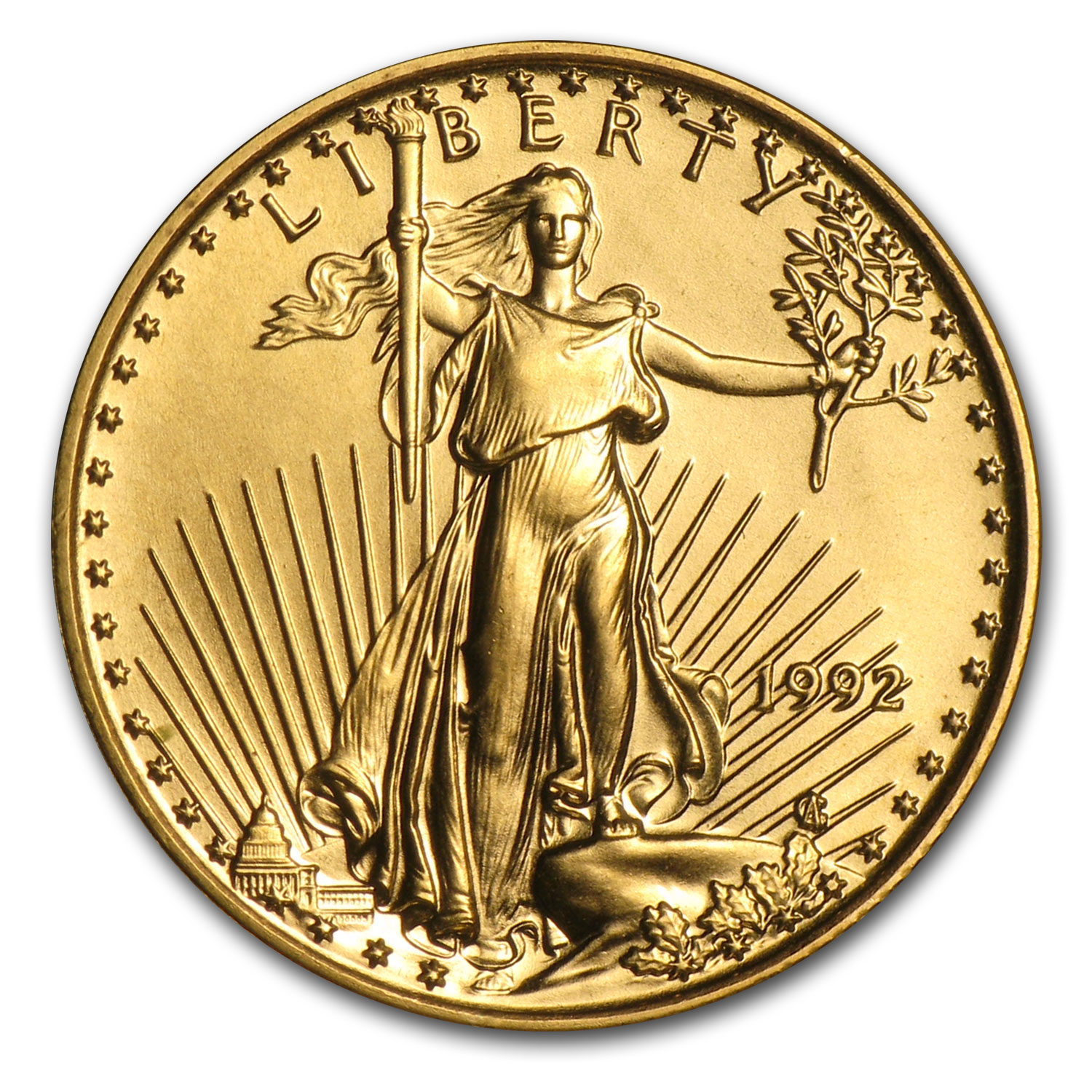 1992 1/10 oz Gold American Eagle (BU)