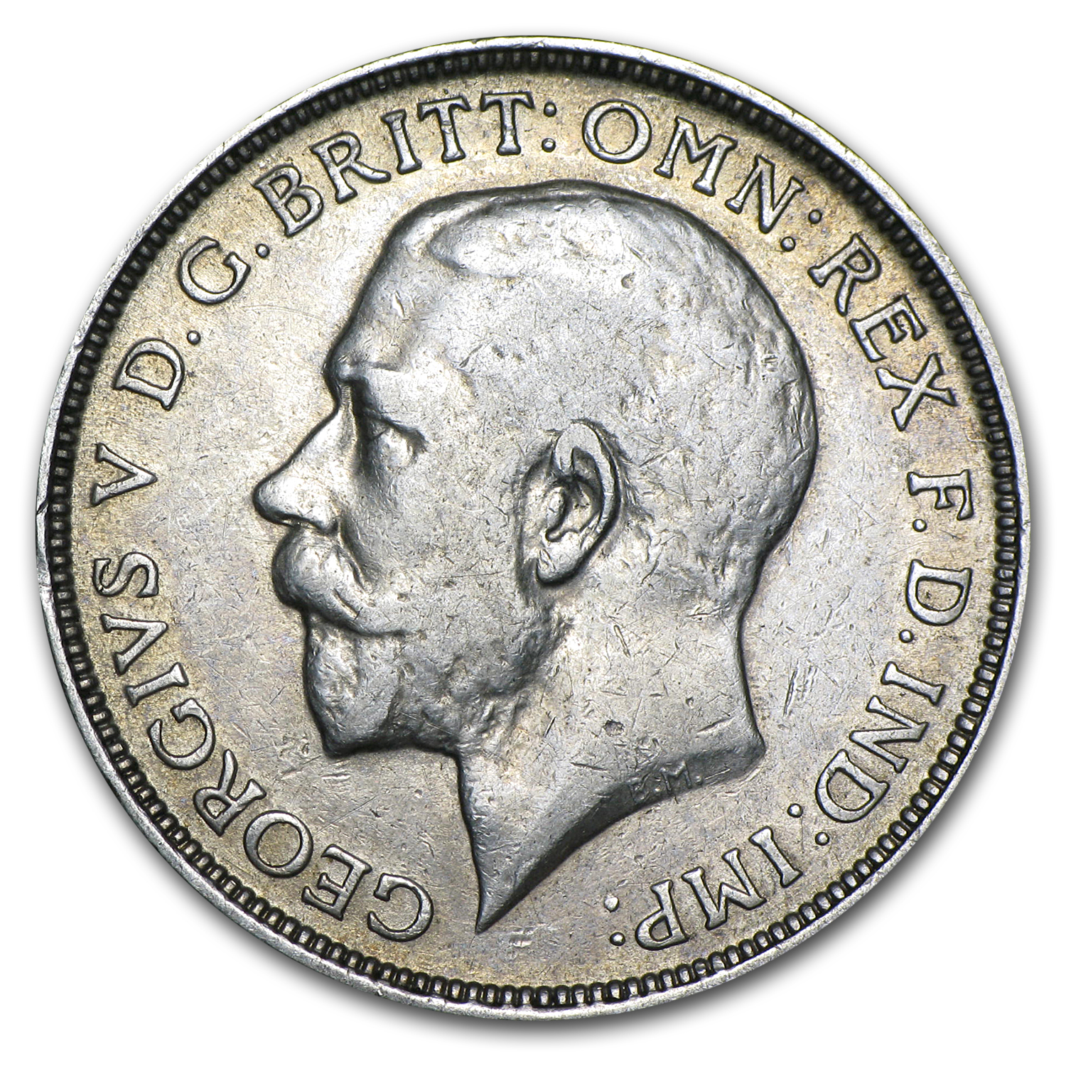 1912 Great Britain Silver Florin George V EF