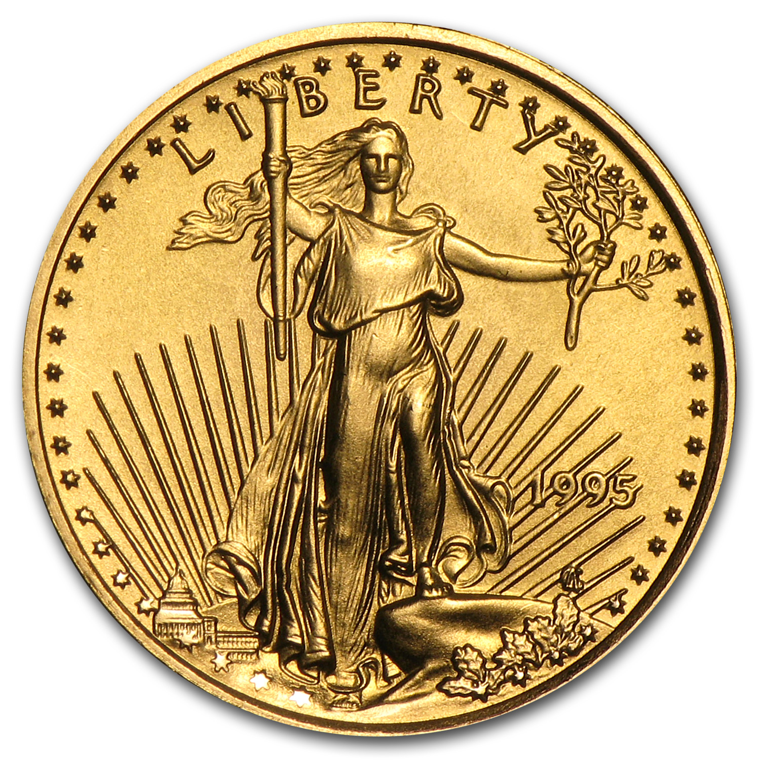 1995 1/10 oz Gold American Eagle BU