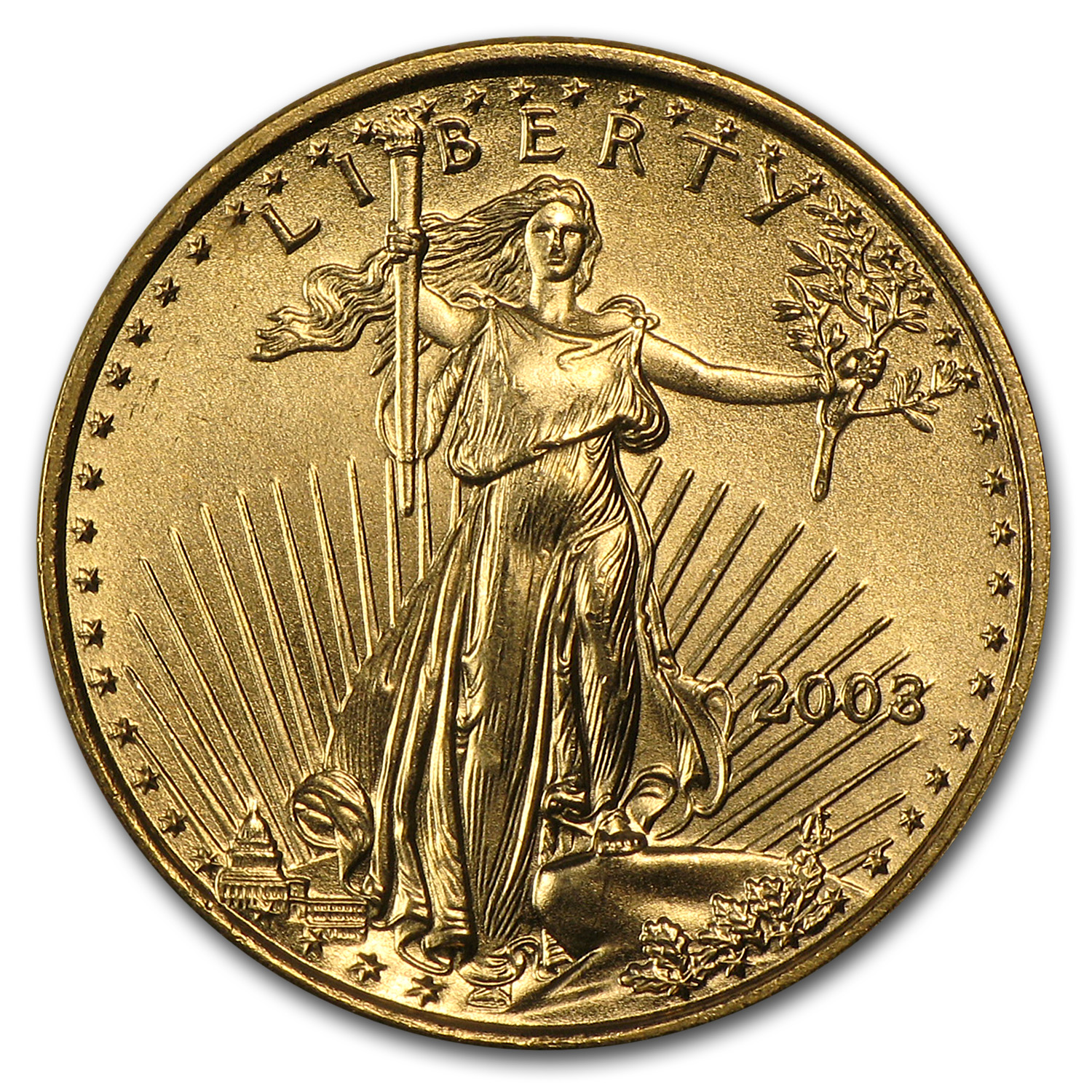 2003 1/10 oz Gold American Eagle BU
