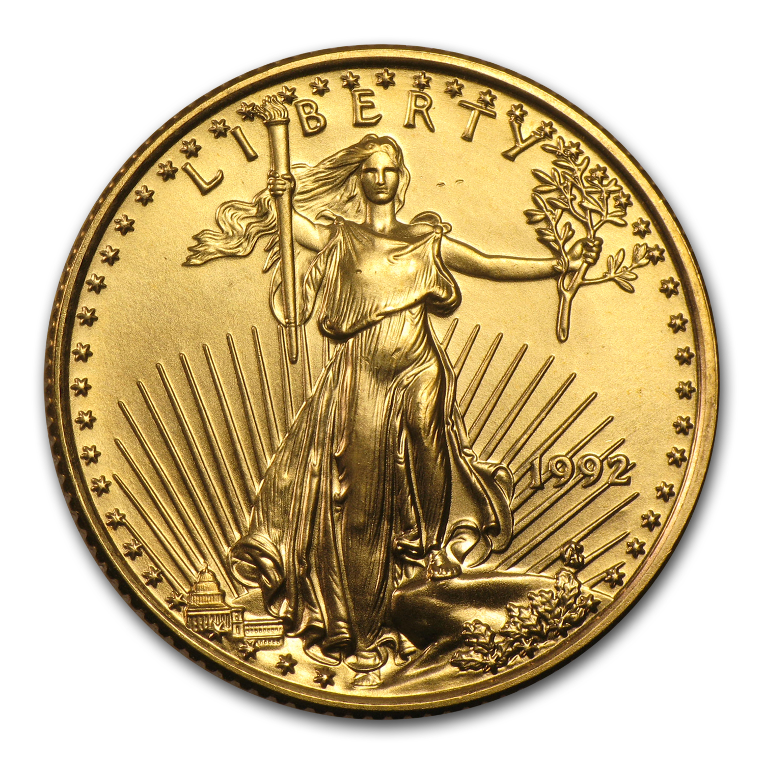 1992 1/4 oz Gold American Eagle (BU)
