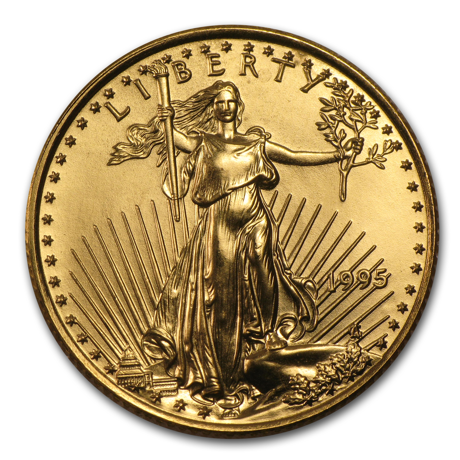 1995 1/4 oz Gold American Eagle BU