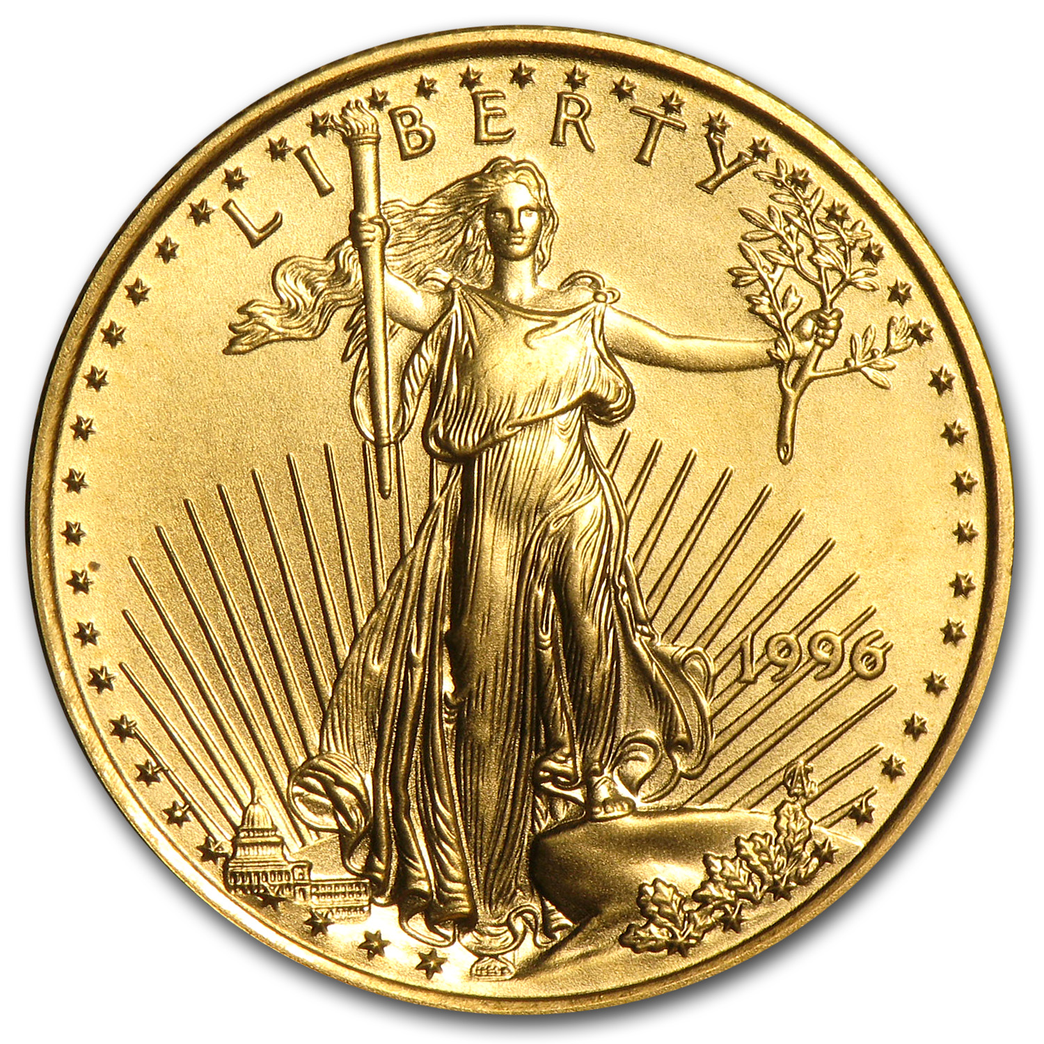 1996 1/4 oz Gold American Eagle (BU)