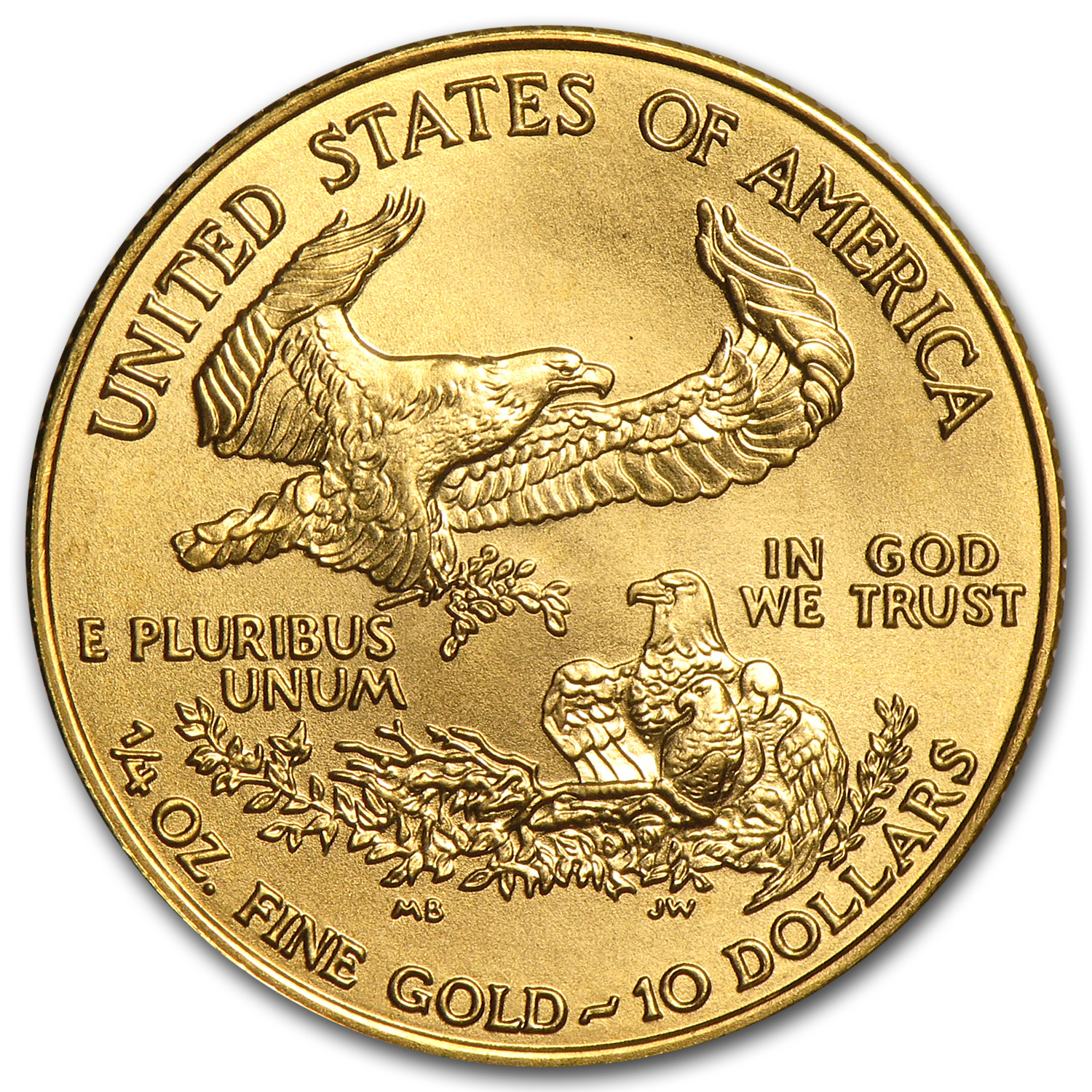 1996 1/4 oz Gold American Eagle BU