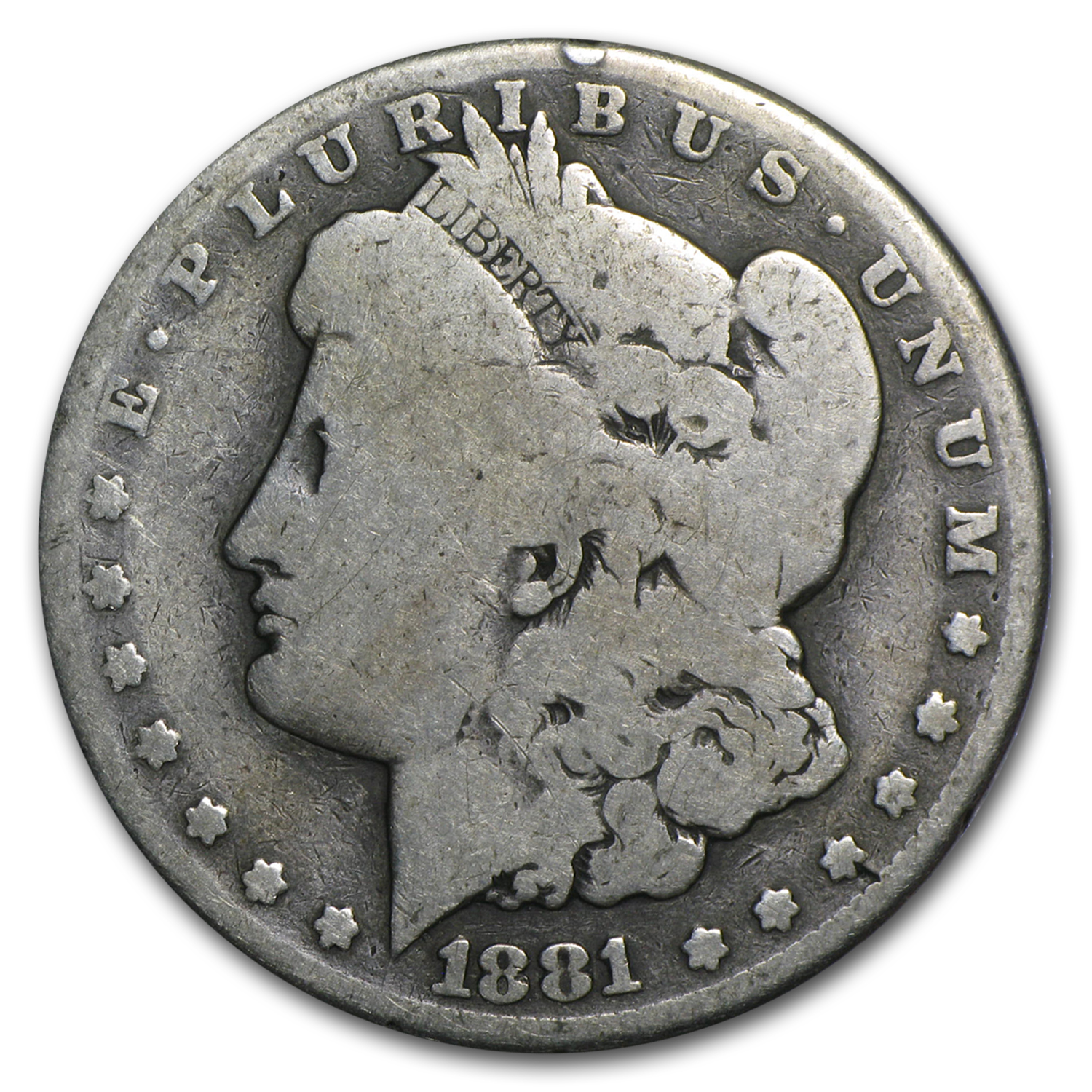 1881-CC Morgan Dollar AG