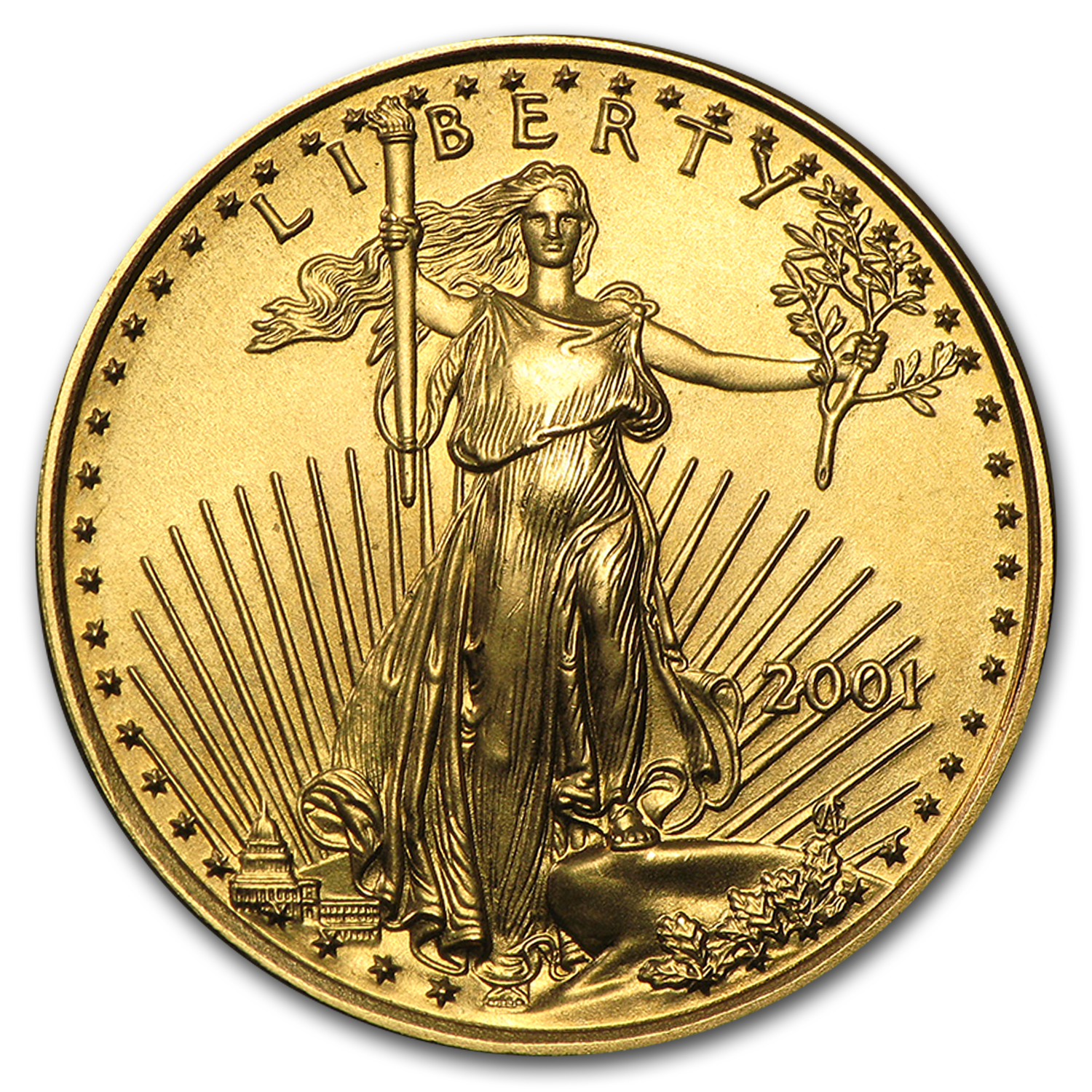 2001 1/4 oz Gold American Eagle (BU)
