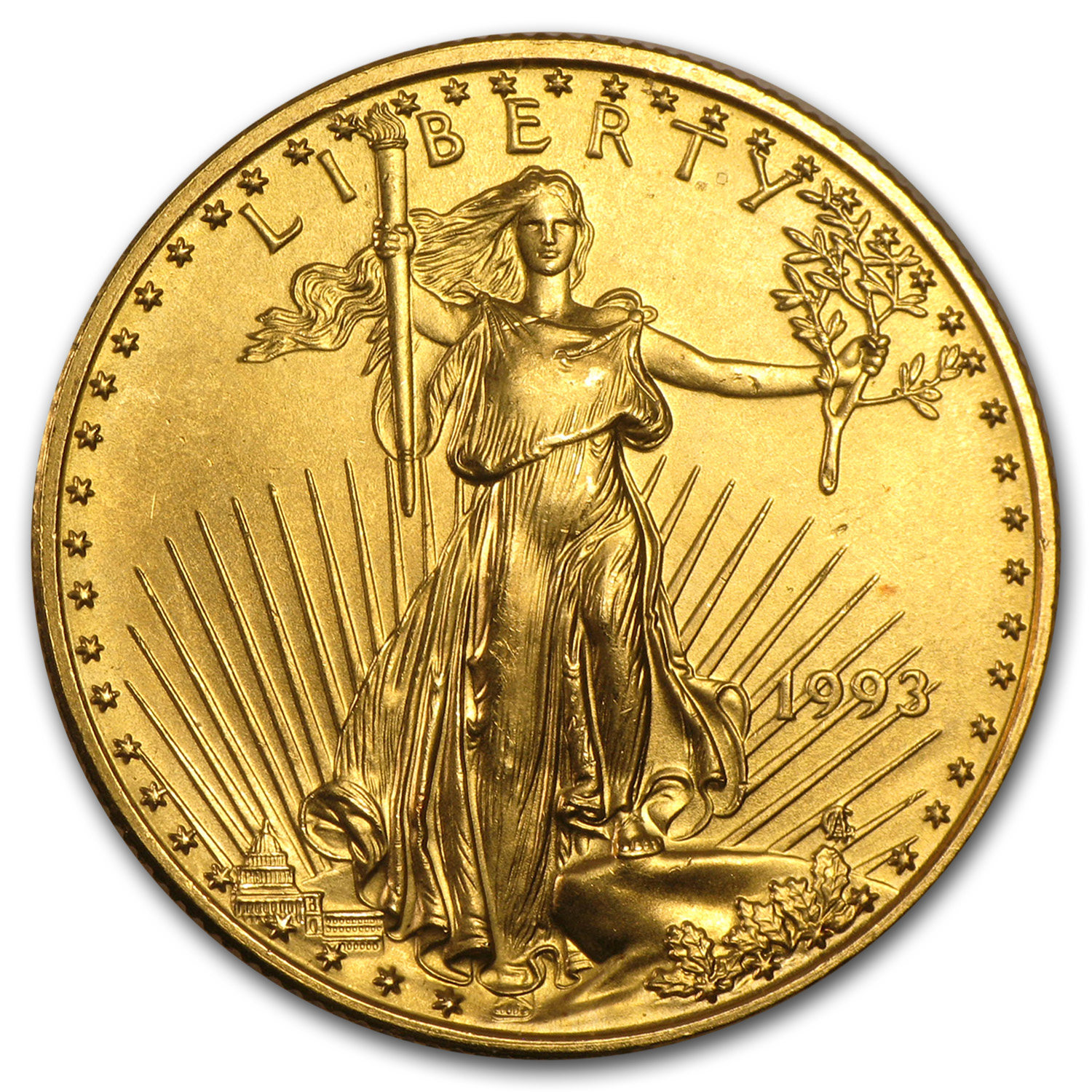 1993 1/2 oz Gold American Eagle BU