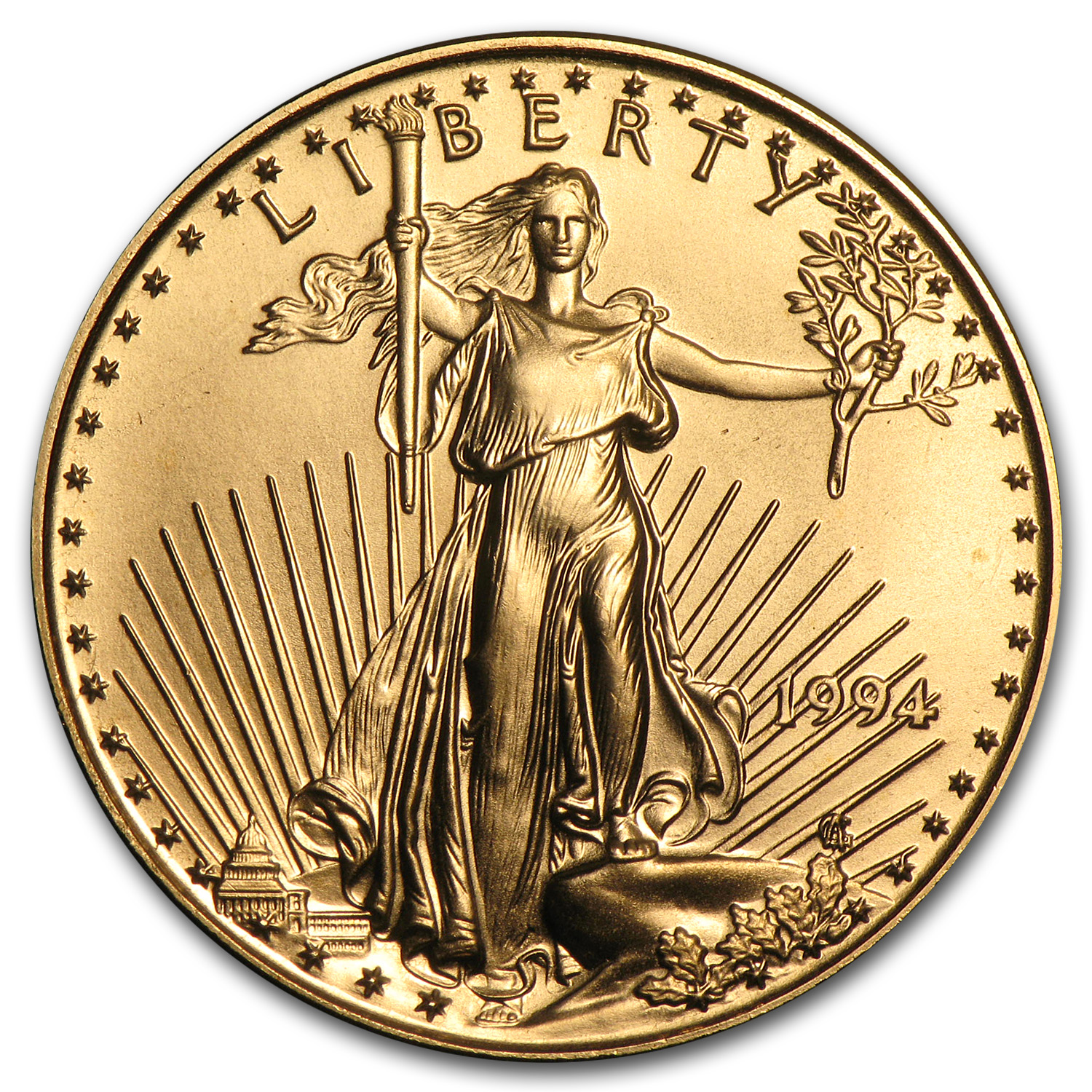 1994 1/2 oz Gold American Eagle BU