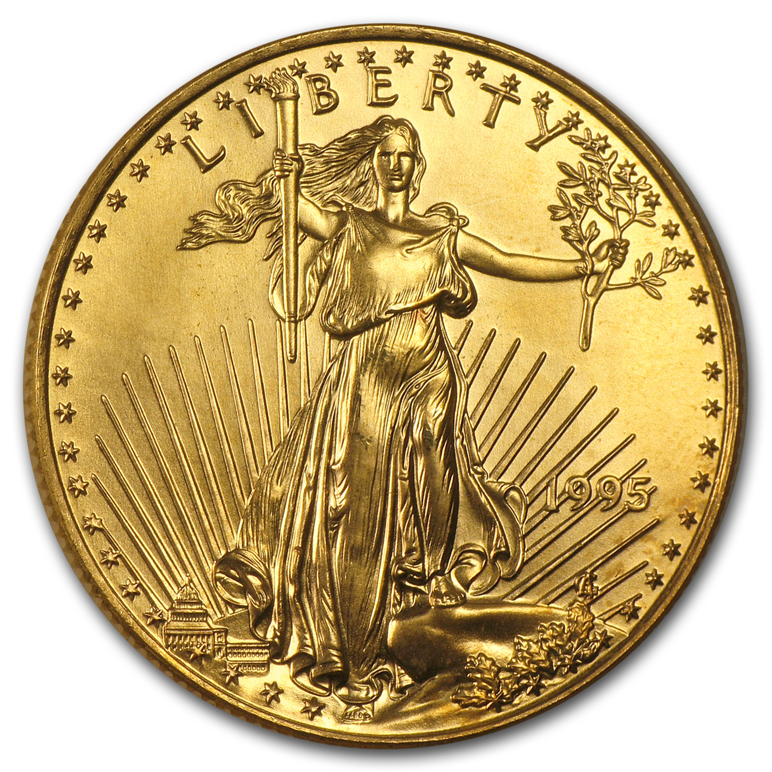 1995 1/2 oz Gold American Eagle BU