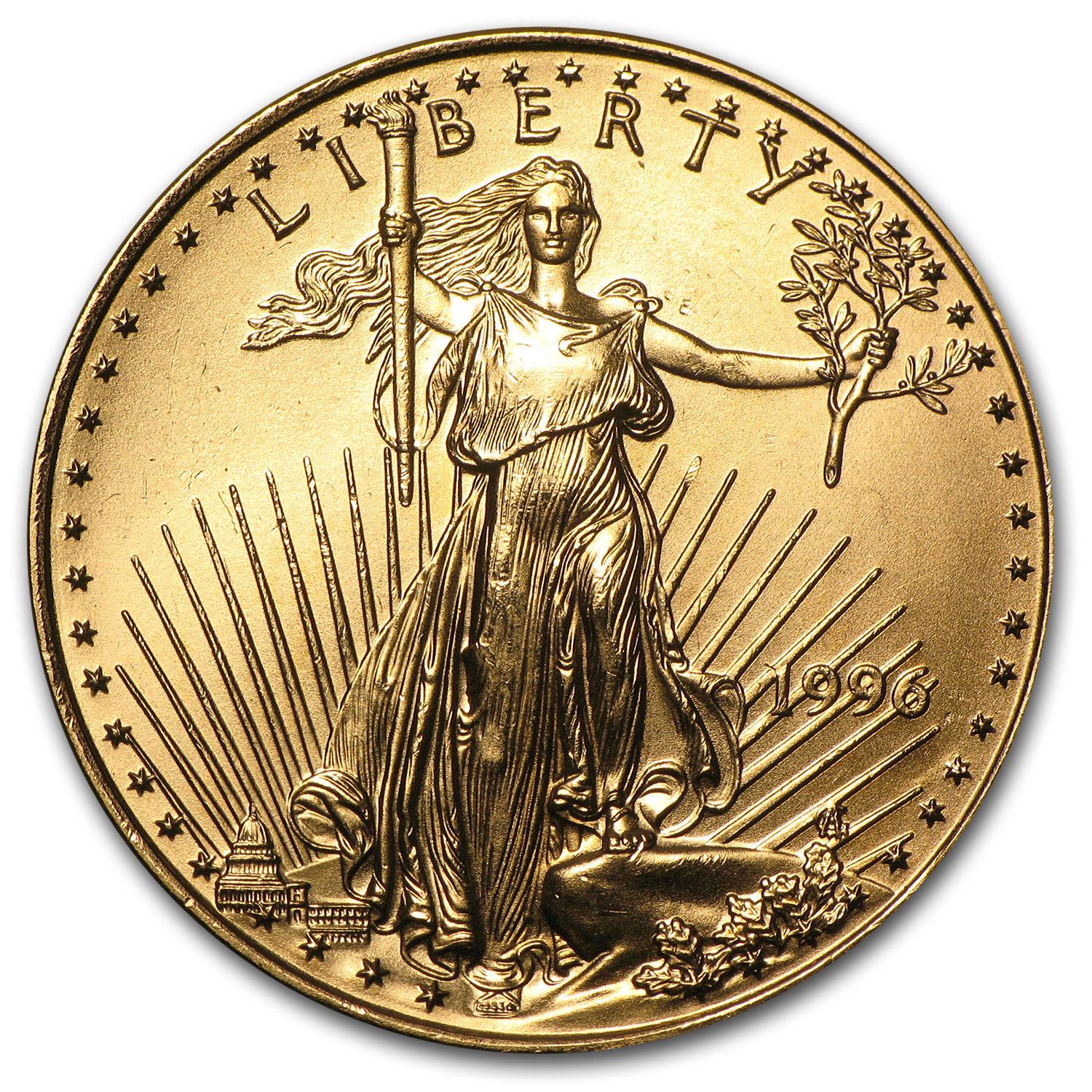1996 1/2 oz Gold American Eagle BU