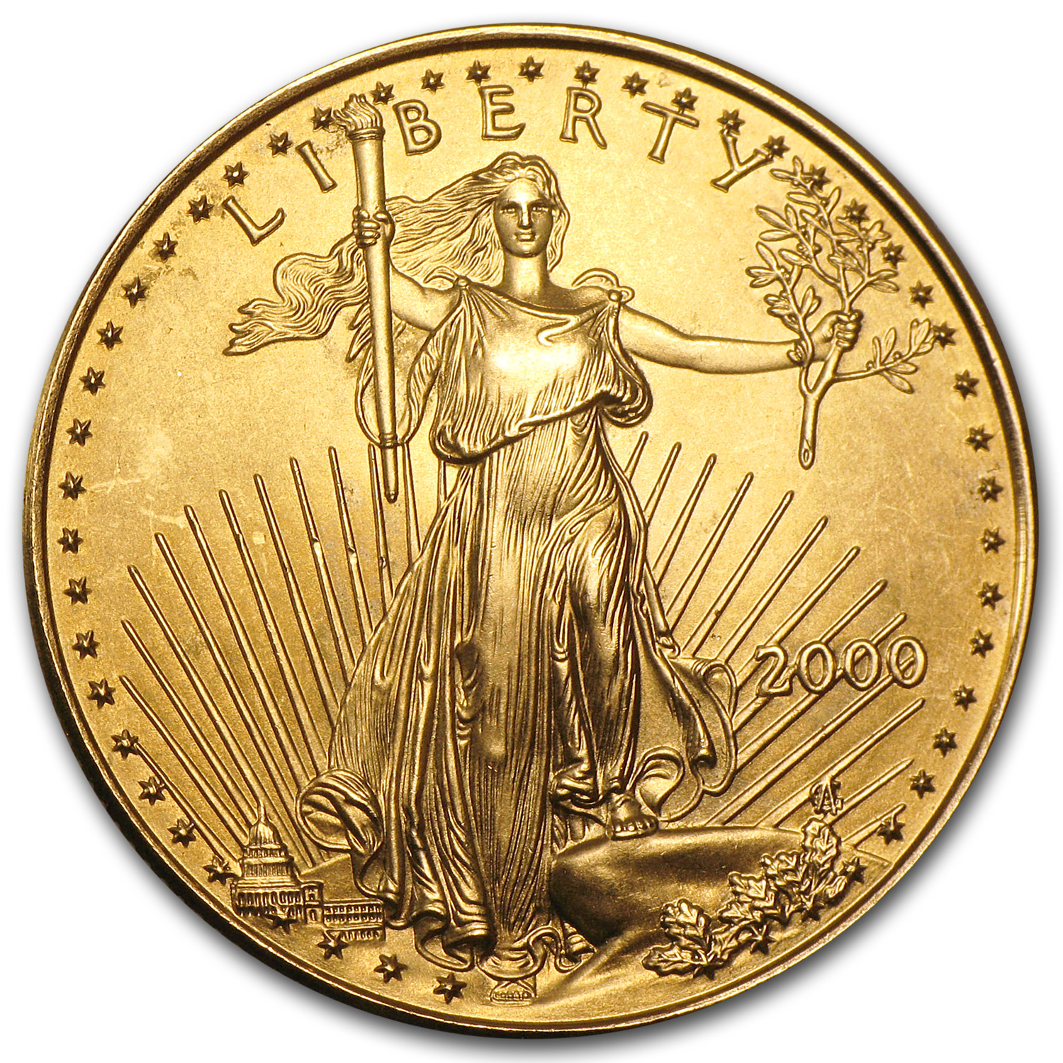 2000 1/2 oz Gold American Eagle BU