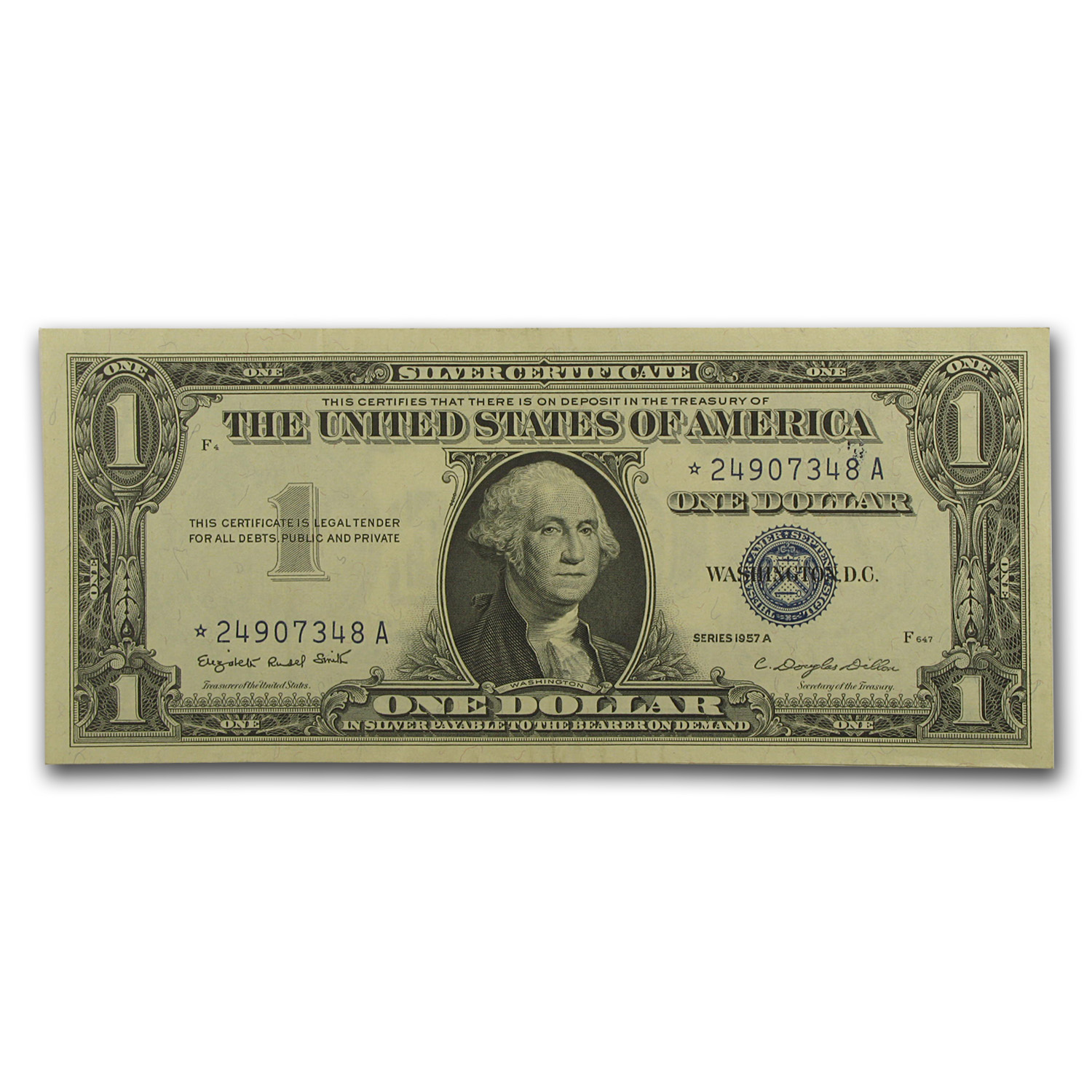 1957's* $1 Silver Certificates Almost Uncirculated - Star Note