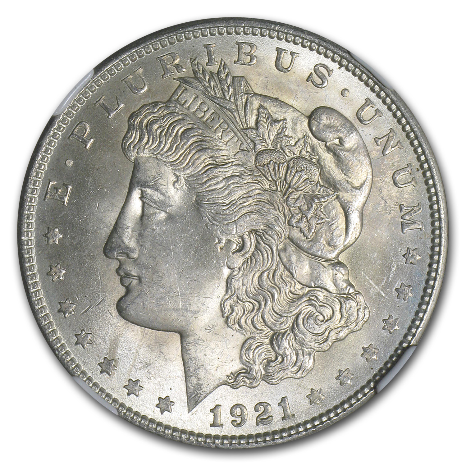 1921 Morgan Dollar MS-63 NGC
