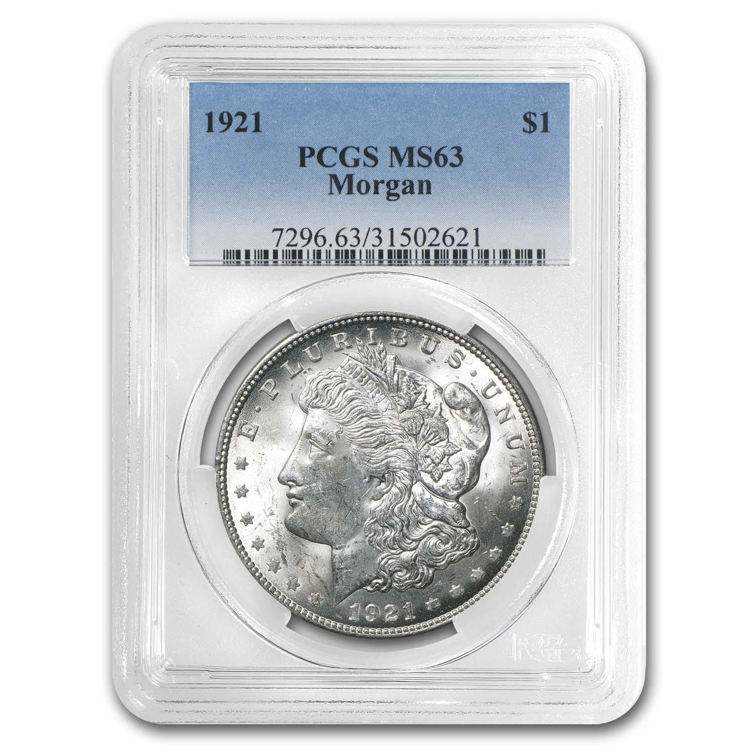1921 Morgan Dollar MS-63 PCGS